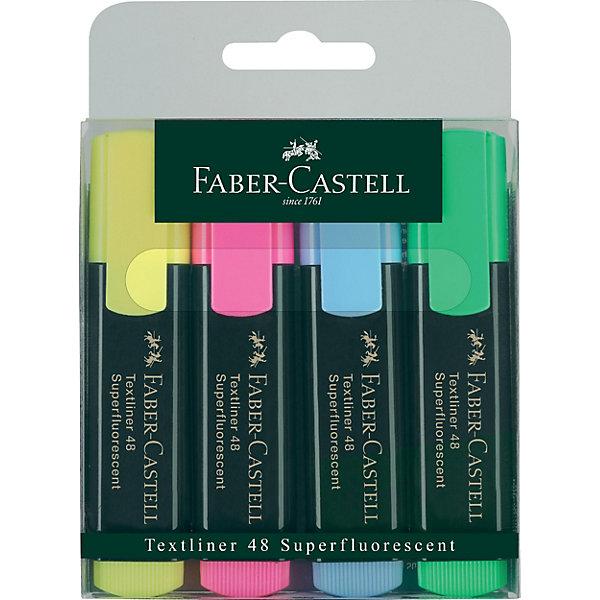 Маркеры , 4 шт., Faber-CastellПисьменные принадлежности<br>Набор высококачественных текст маркеров для работы со всеми типами бумаги. Насыщенные суперфлюоресцентные цвета чернил.<br><br>Дополнительная информация: <br><br>- Чернила на водной основе. <br>- 4 цвета: желтый, синий, розовый, зеленый. <br>- Скошенный наконечник. <br>- Ширина линии письма - 1-5 мм.<br>- Размер упаковки: 11х12х1,5 см.<br>-  Вес в упаковке: 100 г.<br><br>Маркеры  Faber-Castell  можно купить в нашем магазине.<br>Ширина мм: 110; Глубина мм: 120; Высота мм: 15; Вес г: 100; Возраст от месяцев: 72; Возраст до месяцев: 2147483647; Пол: Унисекс; Возраст: Детский; SKU: 4792770;