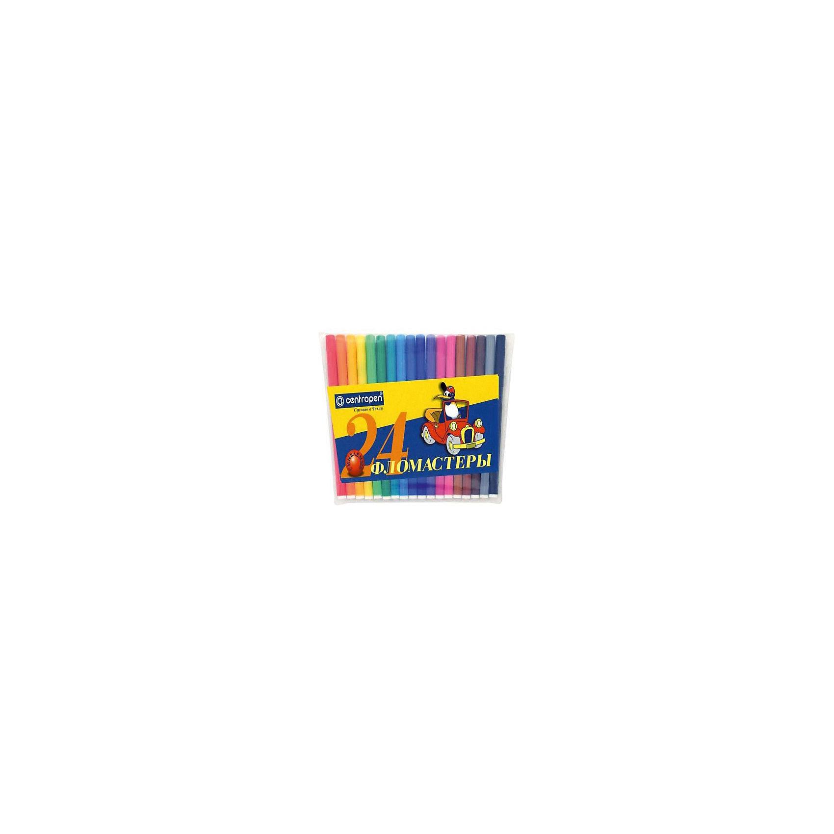 - Фломастеры, 24 цв., Centropen цветной сургуч перо для письма купить в украине