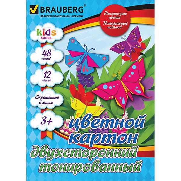 Цветной картон А4, 48 л., 12 цв.Бумажная продукция<br>Набор цветного двухстороннего тонированного картона BRAUBERG детской серии предназначен для творчества, хобби, моделирования, оформления презентаций. Позволит создавать  всевозможные  неординарные аппликации и поделки.<br><br>Дополнительная информация:<br><br>- Формат А4 (210х297 мм).<br>- Внутренний блок - двухсторонний цветной картон, тонированный в массе.<br>- Альбомное скрепление для эффективного использования.<br>- 12 цветов.<br>- 48 листов.<br>- Размер упаковки: 31,7х23х1,5 см.<br>-  Вес в упаковке: 607 г.<br><br>Цветной картон  можно купить в нашем магазине.<br>Ширина мм: 317; Глубина мм: 230; Высота мм: 15; Вес г: 607; Возраст от месяцев: 72; Возраст до месяцев: 2147483647; Пол: Унисекс; Возраст: Детский; SKU: 4792787;