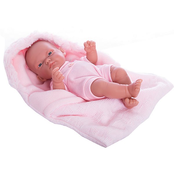 Кукла-младенец Карла в конверте, розовый, 26 см, Munecas Antonio JuanБренды кукол<br>Кукла-младенец Карла в конверте, розовый, 26 см, Munecas Antonio Juan (Мунекас от Антонио Хуан) ? этот малышка от всемирно известного испанского бренда Мунекас от Антонио Хуан, который знаменит своими реалистичными куклами. Кукла полностью изготовлена из винила высшего качества. Ручки и ножки подвижны, голова поворачивается в стороны, глазки не закрываются. <br>Карла полностью имитирует новорожденного ребенка. Ее серьезный сосредоточенный взгляд, чуть надутые губки и ручки, зажатые в кулачки, не оставят равнодушными ни одну девочку.<br>Кукла-младенец Карла в конверте, розовый, 26 см, Munecas Antonio Juan (Мунекас от Антонио Хуан) разработана с учетом анатомических особенностей и мимики младенцев. Играя с куклой, ваш ребенок реалистично проживает роль «мамы», учится ухаживать за малышом, заботиться о нем.<br>В комплекте с Карлой имеется приданное для новорожденного: мягкая пеленочка и теплый розовый конверт для прогулок. Особое удовольствие вашей дочери доставит купание Карлы в воде.<br>Куклы JUAN ANTONIO munecas (Мунекас от Антонио Хуан) ? мечта девочки любого возраста!<br><br>Дополнительная информация:<br><br>- Вид игр: сюжетно-ролевые игры <br>- Материал: винил<br>- Комплектация: пеленка, конверт, чепчик <br>- Высота куклы: 26 см<br>- Вес: 2 кг 680 г<br>- Особенности ухода: одежда ? ручная стирка, куклу можно купать <br><br>Подробнее:<br><br>• Для детей в возрасте: от 3 лет и до 6 лет<br>• Страна производитель: Испания<br>• Торговый бренд: JUAN ANTONIO munecas <br><br>Кукла-младенец Карла в конверте, розовый, 26 см, Munecas Antonio Juan (Мунекас от Антонио Хуан) можно купить в нашем интернет-магазине.<br>Ширина мм: 350; Глубина мм: 200; Высота мм: 125; Вес г: 2680; Возраст от месяцев: 36; Возраст до месяцев: 72; Пол: Женский; Возраст: Детский; SKU: 4792889;
