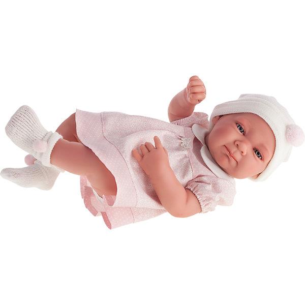 Кукла-младенец Оливия в розовом, 42 см, Munecas Antonio JuanКуклы<br>Кукла-младенец Оливия в розовом, 42 см, Munecas Antonio Juan (Мунекас от Антонио Хуан) ? это очаровательная малышка от всемирно известного испанского бренда Мунекас от Антонио Хуан, который знаменит своими реалистичными куклами. Кукла изготовлена из винила высшего качества, ручки и ножки подвижны, голова поворачивается в стороны, глазки не закрываются. <br>Нежные черты лица, розовые щечки, пухленькие губки, курносый носик.  <br>Кукла-младенец Оливия в розовом, 42 см, Munecas Antonio Juan (Мунекас от Антонио Хуан) разработана с учетом анатомических особенностей и мимики младенцев. Играя с пупсом, ваш ребенок реалистично проживает роль «мамы», учится ухаживать за малышом, заботиться о нем.<br>У малышки Оливии милый наряд: розовое платьице с белым воротничком, белые носочки и белая шапочка.<br>Куклы JUAN ANTONIO munecas (Мунекас от Антонио Хуан) ? мечта девочки любого возраста!<br><br>Дополнительная информация:<br><br>- Вид игр: сюжетно-ролевые игры <br>- Материал: винил, текстиль<br>- Высота куклы: 42 см<br>- Вес: 3 кг 650 г<br>- Особенности ухода: одежда ? ручная стирка, куклу можно купать <br><br>Подробнее:<br><br>• Для детей в возрасте: от 3 лет и до 6 лет<br>• Страна производитель: Испания<br>• Торговый бренд: JUAN ANTONIO munecas <br><br>Куклу-младенца Оливию в розовом, 42 см, Munecas Antonio Juan (Мунекас от Антонио Хуан) (Мунекас от Антонио Хуан) можно купить в нашем интернет-магазине.<br>Ширина мм: 505; Глубина мм: 265; Высота мм: 160; Вес г: 3650; Возраст от месяцев: 36; Возраст до месяцев: 72; Пол: Женский; Возраст: Детский; SKU: 4792892;