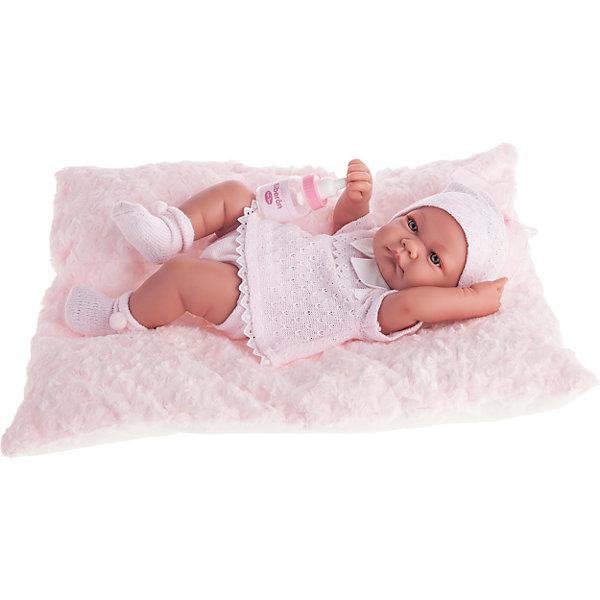 Кукла-младенец Ника в розовом, 42 см, Munecas Antonio JuanКуклы<br>Кукла-младенец Ника в розовом, 42 см, Munecas Antonio Juan (Мунекас от Антонио Хуан) ? это очаровательный малыш от всемирно известного испанского бренда Мунекас от Антонио Хуан, который знаменит своими реалистичными куклами. Кукла изготовлена из винила высшего качества, ручки и ножки подвижны, голова поворачивается в стороны, глазки не закрываются. <br>Нежные черты лица, розовые щечки, пухленькие губки, курносый носик.  <br>Кукла-младенец Ника в розовом, 42 см, Munecas Antonio Juan (Мунекас от Антонио Хуан) разработана с учетом анатомических особенностей и мимики младенцев. Играя с пупсом, ваш ребенок реалистично проживает роль «мамы», учится ухаживать за малышом, заботиться о нем.<br>У малыша Нико стильный наряд: розовое платьице, белые носочки и  шапочка.<br>Куклы JUAN ANTONIO munecas (Мунекас от Антонио Хуан) ? мечта девочки любого возраста!<br><br>Дополнительная информация:<br><br>- Вид игр: сюжетно-ролевые игры <br>- Материал: винил, текстиль<br>- Комплектация: кукла, бутылочка, мягкая подушечка<br>- Высота куклы: 42 см<br>- Вес: 3 кг 750 г<br>- Особенности ухода: одежда ? ручная стирка, куклу можно купать <br><br>Подробнее:<br><br>• Для детей в возрасте: от 3 лет и до 6 лет<br>• Страна производитель: Испания<br>• Торговый бренд: JUAN ANTONIO munecas <br><br>Кукла-младенец Ника в розовом, 42 см, Munecas Antonio Juan (Мунекас от Антонио Хуан) (Мунекас от Антонио Хуан) можно купить в нашем интернет-магазине.<br><br>Ширина мм: 505<br>Глубина мм: 265<br>Высота мм: 160<br>Вес г: 3750<br>Возраст от месяцев: 36<br>Возраст до месяцев: 72<br>Пол: Женский<br>Возраст: Детский<br>SKU: 4792894