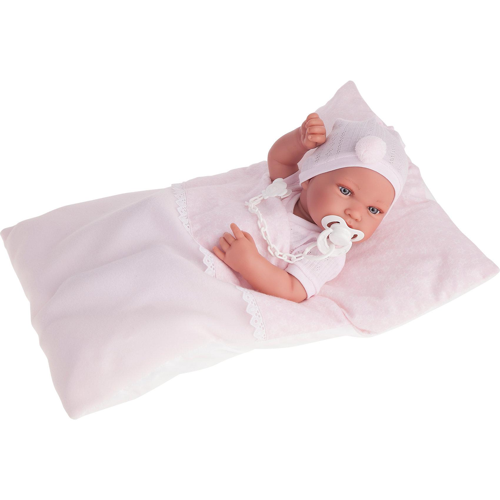 Munecas Antonio Juan Кукла-младенец Пипа в розовом, 42 см, Munecas Antonio Juan munecas antonio juan кукла эвита в розовом 38 см munecas antonio juan