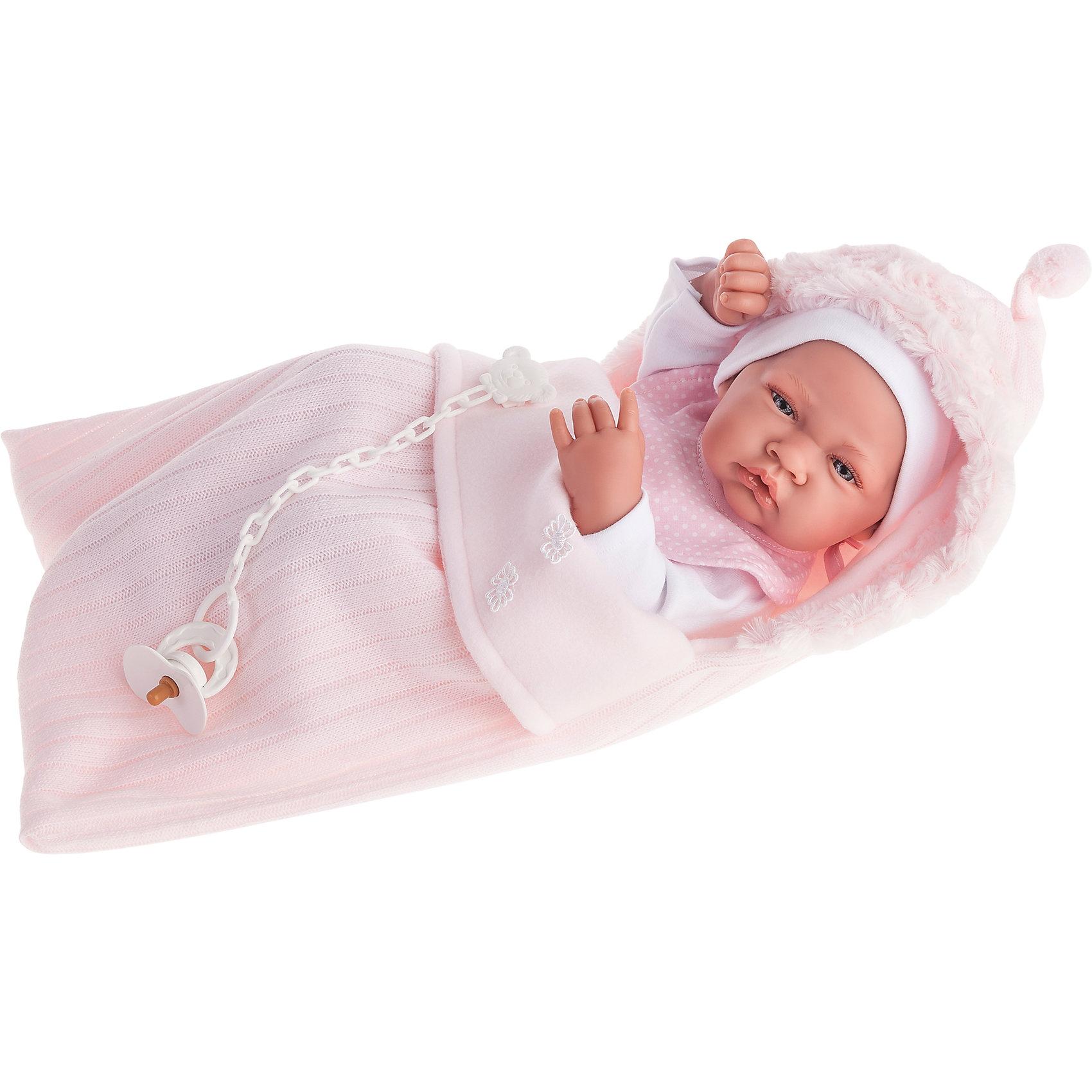 Кукла-младенец девочка Сильвия, 42 см, Munecas Antonio JuanКлассические куклы<br>Кукла-младенец девочка Сильвия, 42 см, Munecas Antonio Juan (Мунекас от Антонио Хуан) ? это очаровательная малышка от всемирно известного испанского бренда Мунекас от Антонио Хуан, который знаменит своими реалистичными куклами. Кукла изготовлена из винила высшего качества, ручки и ножки подвижны, голова поворачивается в стороны, глазки не закрываются. <br>Нежные черты лица, розовые щечки, пухленькие губки, курносый носик.  <br>Кукла-младенец девочка Сильвия, 42 см, Munecas Antonio Juan (Мунекас от Антонио Хуан) разработана с учетом анатомических особенностей и мимики младенцев. Играя с пупсом, ваш ребенок реалистично проживает роль «мамы», учится ухаживать за малышом, заботиться о нем.<br>У Сильвии стильный наряд: белый комбинезончик с розовой манишкой, в комплекте идет мягкий розовый конверт с капюшоном.<br>Куклы JUAN ANTONIO munecas (Мунекас от Антонио Хуан) ? мечта девочки любого возраста!<br><br>Дополнительная информация:<br><br>- Вид игр: сюжетно-ролевые игры <br>- Комплектация: кукла, мягкий конверт, соска<br>- Материал: винил, текстиль<br>- Высота куклы: 42 см<br>- Вес: 7 кг 500 г<br>- Особенности ухода: одежда ? ручная стирка, куклу можно купать <br><br>Подробнее:<br><br>• Для детей в возрасте: от 3 лет и до 6 лет<br>• Страна производитель: Испания<br>• Торговый бренд: JUAN ANTONIO munecas <br><br>Куклу-младенца девочку Сильвию, 42 см, Munecas Antonio Juan (Мунекас от Антонио Хуан) (Мунекас от Антонио Хуан) можно купить в нашем интернет-магазине.<br><br>Ширина мм: 505<br>Глубина мм: 265<br>Высота мм: 160<br>Вес г: 7500<br>Возраст от месяцев: 36<br>Возраст до месяцев: 72<br>Пол: Женский<br>Возраст: Детский<br>SKU: 4792897