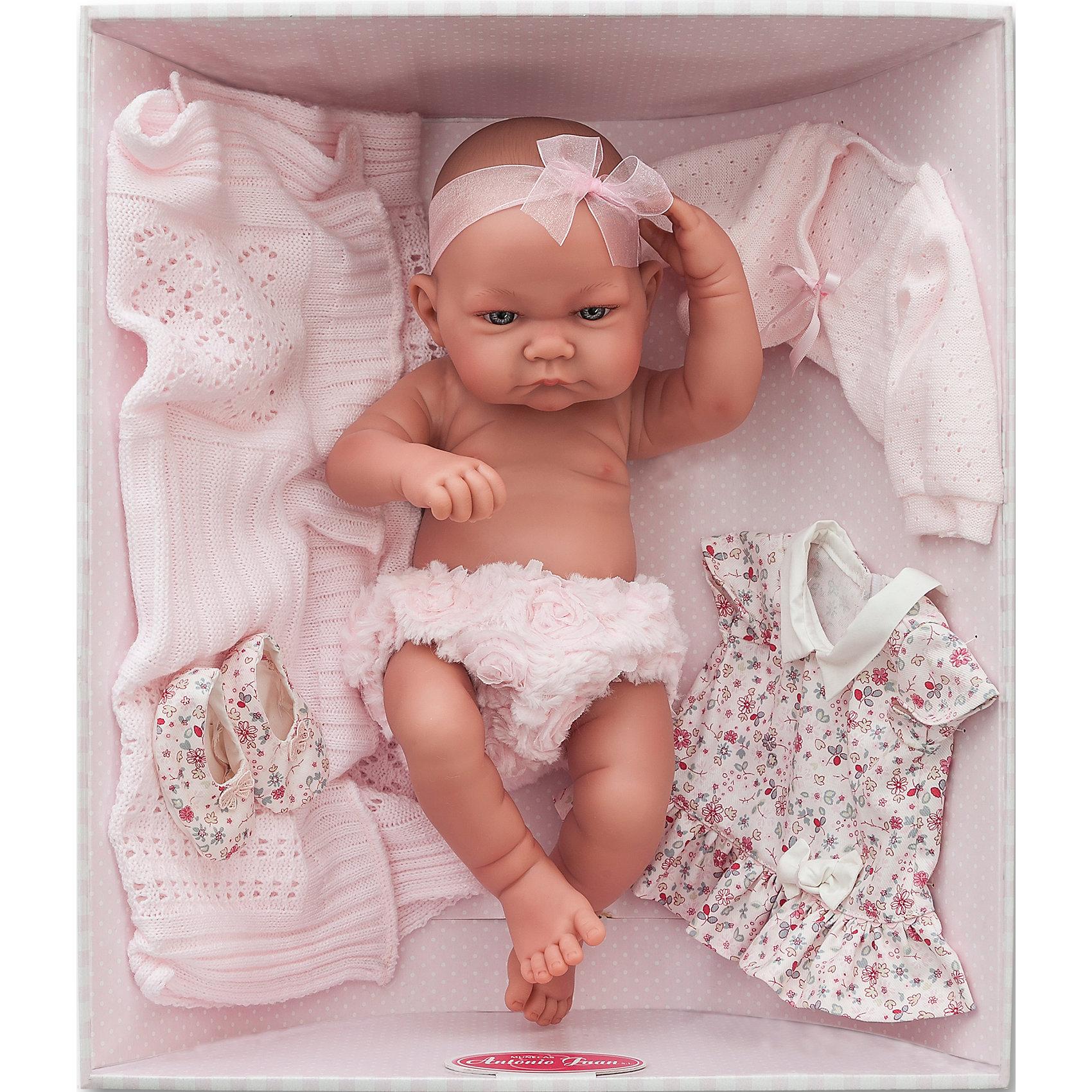 Munecas Antonio Juan Кукла-младенец Эльза, 42 см, Munecas Antonio Juan кукла младенец игнасио в голубом 42 см antonio juan munecas