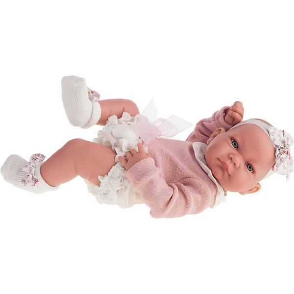 Кукла-младенец Эмма, 42 см, Munecas Antonio JuanКуклы<br>Кукла-младенец Эмма, 42 см, Munecas Antonio Juan (Мунекас от Антонио Хуан) ? это очаровательная малышка от всемирно известного испанского бренда Мунекас от Антонио Хуан, который знаменит своими реалистичными куклами. Кукла изготовлена из винила высшего качества, ручки и ножки подвижны, голова поворачивается в стороны, глазки не закрываются. <br>Нежные черты лица, розовые щечки, пухленькие губки, курносый носик.  <br>Кукла-младенец Эмма, 42 см, Munecas Antonio Juan (Мунекас от Антонио Хуан) разработана с учетом анатомических особенностей и мимики младенцев. Играя с пупсом, ваш ребенок реалистично проживает роль «мамы», учится ухаживать за малышом, заботиться о нем.<br>Эмма одета в ажурные трусики, розовую кофточку, на ножках носочки, на голове стильная повязка.<br>Куклы JUAN ANTONIO munecas (Мунекас от Антонио Хуан) ? мечта девочки любого возраста!<br><br>Дополнительная информация:<br><br>- Вид игр: сюжетно-ролевые игры <br>- Материал: винил, текстиль<br>- Высота куклы: 42 см<br>- Особенности ухода: одежда ? ручная стирка, куклу можно купать <br><br>Подробнее:<br><br>• Для детей в возрасте: от 3 лет и до 6 лет<br>• Страна производитель: Испания<br>• Торговый бренд: JUAN ANTONIO munecas <br><br>Куклу-младенца Эмму, 42 см, Munecas Antonio Juan (Мунекас от Антонио Хуан) (Мунекас от Антонио Хуан) можно купить в нашем интернет-магазине.<br><br>Ширина мм: 505<br>Глубина мм: 265<br>Высота мм: 160<br>Вес г: 7300<br>Возраст от месяцев: 36<br>Возраст до месяцев: 72<br>Пол: Женский<br>Возраст: Детский<br>SKU: 4792900