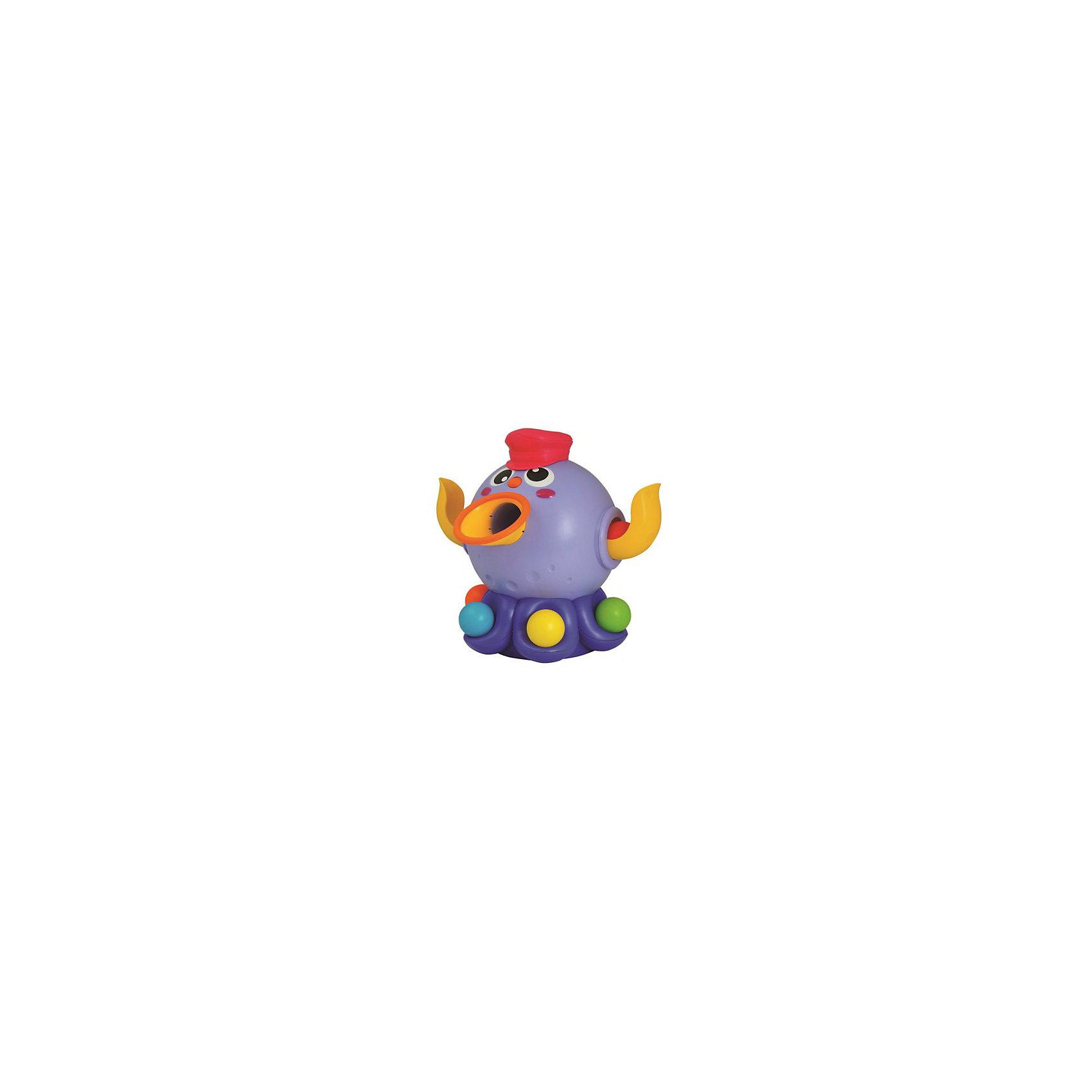 Ловкий осьминожка, OuapsРазвивающие игрушки<br>Ловкий осьминожка, Ouaps (Уапс) ? интерактивная игрушка, предназначенная для детей в возрасте от одного года. Осьминожка станет любимой спортивной игрой, в которую можно играть как одному ребенку, так и нескольким. Подобные игры позволяют внести элемент соревновательности и азарта. Ловкий осьминожка выполнен из высококачественного пластика, имеет яркую окраску и устойчивую платформу. Задача игры заключается в попадании в цель всех мячиков. Соревноваться с осьминогом можно в двух режимах: без включения и тогда он стоит на месте, и на более сложном уровне, когда его включают и он двигается, усложняя тем самым попадание мячика цель. <br>Движение осьминога Ouaps сопровождается приятной музыкой. Ловкий осьминог формирует у вашего ребенка ловкость, сосредоточенность, внимание, координацию движений и учит на простейшем уровне вырабатывать стратегию и тактику игры.<br><br>Дополнительная информация:<br><br>- Вид игр: спортивные (подвижные)<br>- Предназначение: для дома, для детского сада, для детских развивающих центров<br>- Материал: качественный пластик<br>- Дополнительные функции: регулировка звука<br>- Батарейки: 4 шт. ААА<br>- Размер: высота осьминога 36 см<br>- Вес: 2 кг 425 г<br>- Комплектация: осьминожка, 6 разноцветных шариков, батарейки<br>- Особенности ухода: можно протирать влажной губкой, предварительно достав батарейки <br><br>Подробнее:<br><br>• Для детей в возрасте: от 1 года до 3 лет<br>• Страна производитель: Китай<br>• Торговый бренд: Ouaps<br><br>Ловкого осьминожку, Ouaps можно купить в нашем интернет-магазине.<br><br>Ширина мм: 310<br>Глубина мм: 360<br>Высота мм: 280<br>Вес г: 2425<br>Возраст от месяцев: 12<br>Возраст до месяцев: 36<br>Пол: Унисекс<br>Возраст: Детский<br>SKU: 4792908