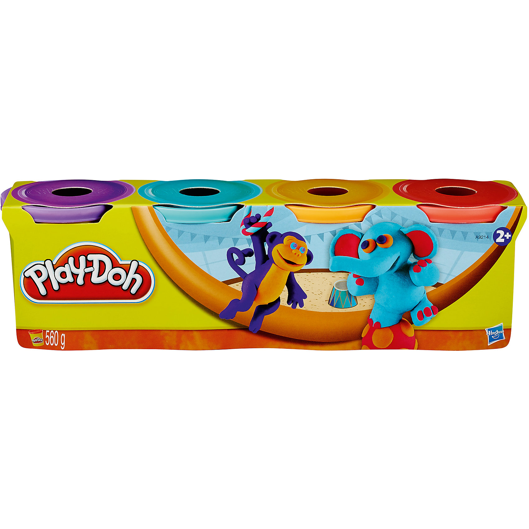 Hasbro Пластилин в 4-х банках,#1, Play-Doh hasbro play doh игровой набор из 3 цветов цвета в ассортименте с 2 лет