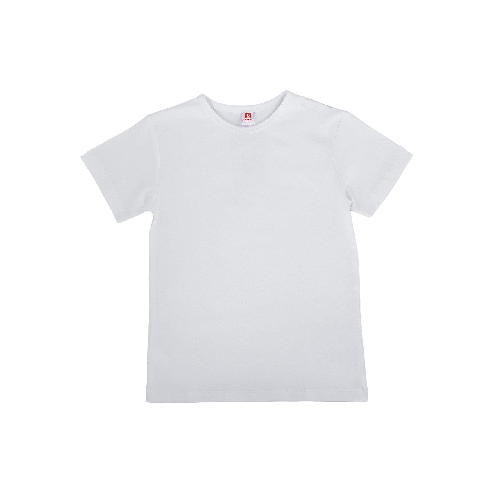Футболка для мальчика GoldyУдобная универсальная футболка для мальчика поможет разнообразить гардероб, создать подходящий погоде ансамбль. Удобный крой и качественный материал обеспечат ребенку комфорт при ношении изделия. <br>Футболка смотрится аккуратно, хорошо сидит по фигуре. Универсальный цвет делает ее подходящей практически к любому наряду. Материал - легкий, но прочный, отлично подходит для детской одежды, состоит преимущественно из дышащего натурального хлопка. Очень приятен на ощупь, не вызывает аллергии.<br><br>Дополнительная информация:<br><br>материал: хлопок 96%, эластан 4%;<br>цвет: белый;<br>круглый горловой вырез;<br>короткие рукава.<br><br>Футболку для мальчика от бренда Goldy (Голди) можно купить в нашем магазине.<br><br>Ширина мм: 199<br>Глубина мм: 10<br>Высота мм: 161<br>Вес г: 151<br>Цвет: белый<br>Возраст от месяцев: 24<br>Возраст до месяцев: 36<br>Пол: Мужской<br>Возраст: Детский<br>Размер: 98,104,110,116,122,92<br>SKU: 4793700