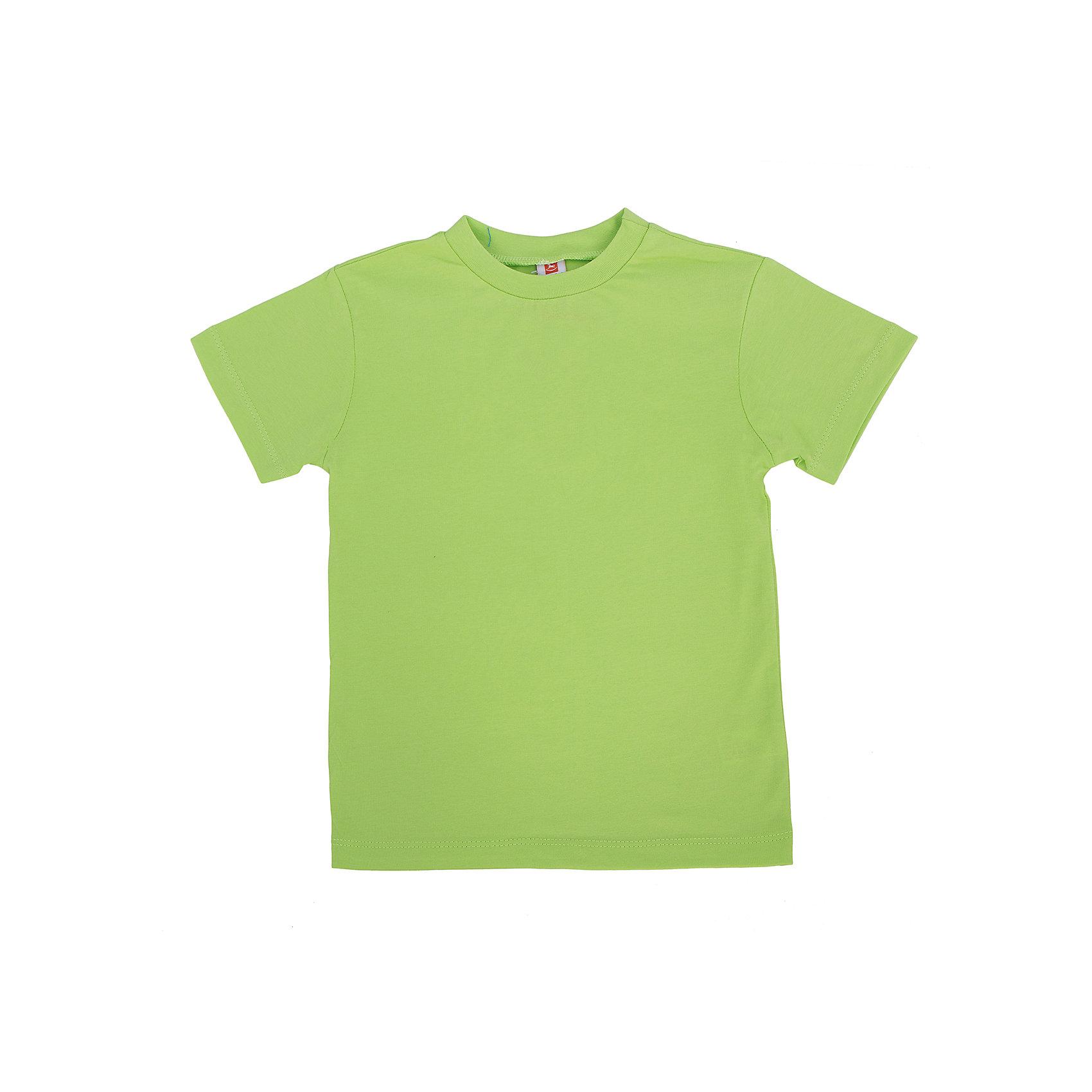 Футболка для мальчика GoldyХлопковая универсальная футболка для мальчика поможет разнообразить гардероб, создать подходящий погоде ансамбль. Удобный крой и качественный материал обеспечат ребенку комфорт при ношении изделия. <br>Футболка смотрится аккуратно, хорошо сидит по фигуре. Яркий цвет делает ее ярким акцентом в наряде. Материал - легкий, но прочный, отлично подходит для детской одежды, состоит преимущественно из дышащего натурального хлопка. Очень приятен на ощупь, не вызывает аллергии.<br><br>Дополнительная информация:<br><br>материал: 100% хлопок;<br>цвет: салатовый;<br>круглый горловой вырез;<br>короткие рукава.<br><br>Футболку для мальчика от бренда Goldy (Голди) можно купить в нашем магазине.<br><br>Ширина мм: 199<br>Глубина мм: 10<br>Высота мм: 161<br>Вес г: 151<br>Цвет: зеленый<br>Возраст от месяцев: 24<br>Возраст до месяцев: 36<br>Пол: Мужской<br>Возраст: Детский<br>Размер: 98,104,110,116,122,92<br>SKU: 4793721