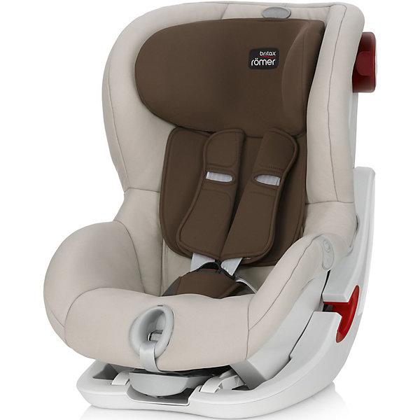 Автокресло Britax Romer KING II LS Sand 9-18 кг, BeigeГруппа 1 (от 9 до 18 кг)<br>KING II LS от Britax R?mer - автокресло с привлекательным дизайном, отвечающее всем требованиям безопасности. Кресло оснащено 5-точечными ремнями безопасности с индикатором натяжения и звуковым и световым сигналом, механизмом откидывания вперед, глубокими мягкими боковинами, мягкими накладками на ремень для плеч. Приятный дизайн понравится ребенку и обеспечит ему максимальную безопасность и комфорт!<br>Особенности:<br>-для детей весом от 9 до 18 кг<br>-5-точечные ремни безопасности<br>-индикатор натяжения ремней со звуковым и световым сигналом<br>-4 положения наклона<br>-установка по ходу движения с помощью ремней безопасности автомобиля<br>-чехол легко снимается для стирки<br><br>Дополнительная информация:<br>Цвет: бежевый<br>Размеры: 67х45х54 см<br>Вес: 10,3 кг<br>Вы можете приобрести автокресло KING II LS от Britax R?mer в нашем интернет-магазине.<br><br>Ширина мм: 540<br>Глубина мм: 450<br>Высота мм: 670<br>Вес г: 10300<br>Возраст от месяцев: 9<br>Возраст до месяцев: 48<br>Пол: Унисекс<br>Возраст: Детский<br>SKU: 4794364