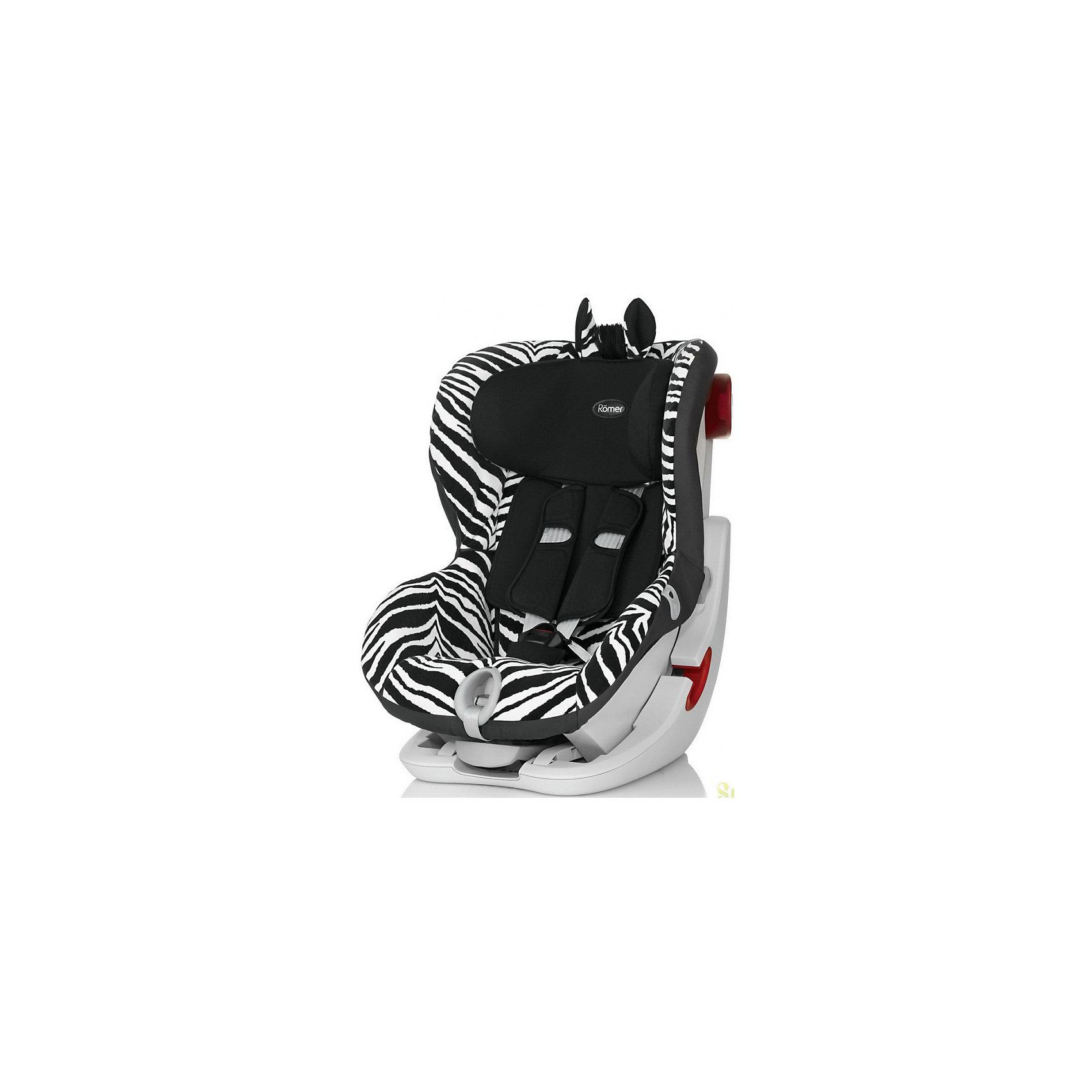 Автокресло Britax Romer KING II LS Smart 9-18 кг, ZebraГруппа 1 (От 9 до 18 кг)<br>KING II LS от Britax R?mer - автокресло с привлекательным дизайном, отвечающее всем требованиям безопасности. Кресло оснащено 5-точечными ремнями безопасности с индикатором натяжения и звуковым и световым сигналом, механизмом откидывания вперед, глубокими мягкими боковинами, мягкими накладками на ремень для плеч. Приятный дизайн с расцветкой зебры  понравится ребенку и обеспечит ему максимальную безопасность и комфорт!<br>Особенности:<br>-для детей весом от 9 до 18 кг<br>-5-точечные ремни безопасности<br>-индикатор натяжения ремней со звуковым и световым сигналом<br>-4 положения наклона<br>-установка по ходу движения с помощью ремней безопасности автомобиля<br>-чехол легко снимается для стирки<br><br>Дополнительная информация:<br>Цвет: черный/белый<br>Размеры: 67х45х54 см<br>Вес: 10,3 кг<br>Вы можете приобрести автокресло KING II LS от Britax R?mer в нашем интернет-магазине.<br><br>Ширина мм: 540<br>Глубина мм: 450<br>Высота мм: 670<br>Вес г: 10300<br>Возраст от месяцев: 9<br>Возраст до месяцев: 48<br>Пол: Унисекс<br>Возраст: Детский<br>SKU: 4794365