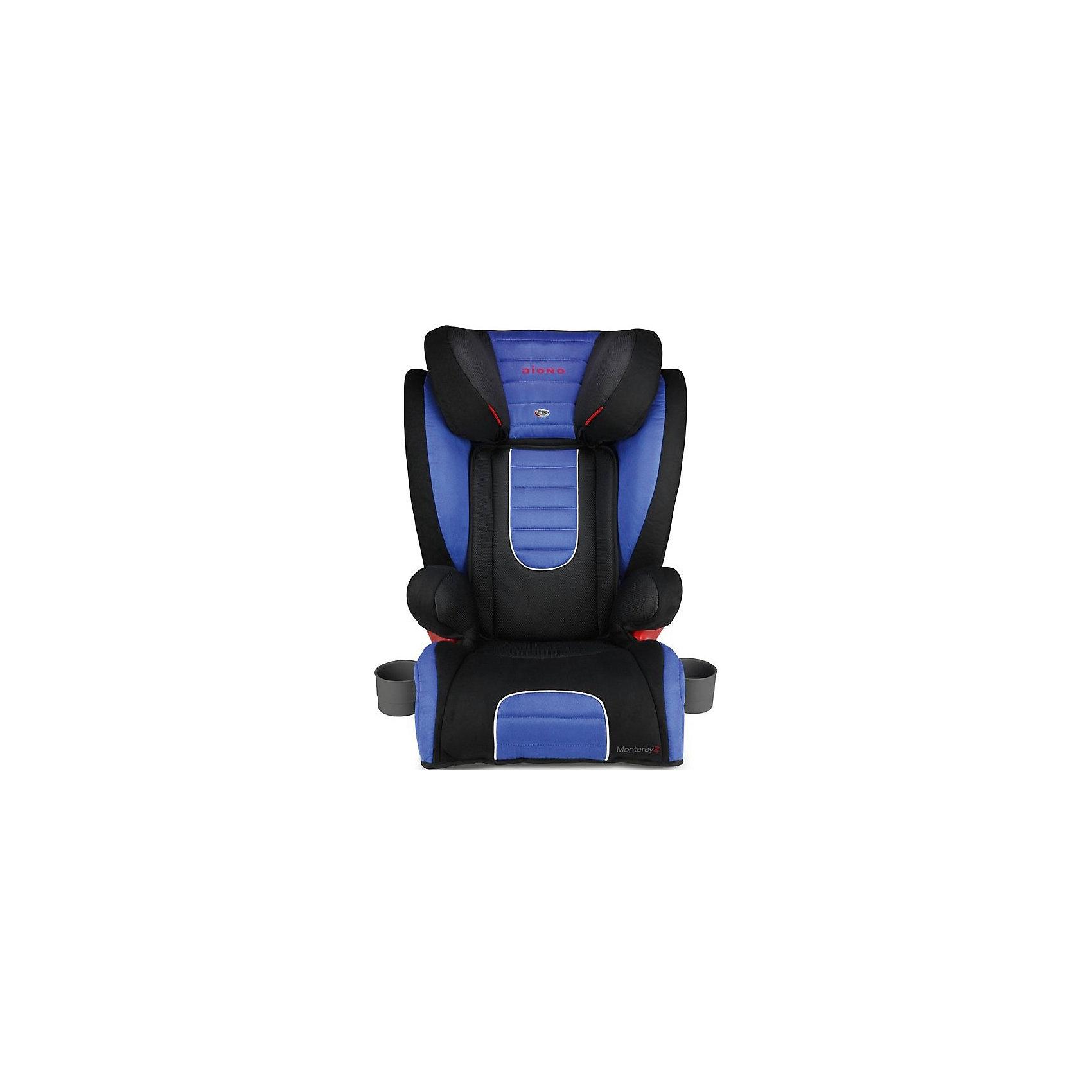 Автокресло Diono Monterey 2, 15-36 кг, BlueГруппа 2-3 (От 15 до 36 кг)<br>Diono Monterey 2 Blue - превосходное автокресло для безопасности и удобства ребенка во время длительных поездок. Кресло удобно устанавливается по ходу движения автомобиля, благодаря 3-точечным ремням и легкой регулировке креплений с системой Isofix. Для повышенной безопасности автокресло оборудовано глубоким регулируемым подголовником и боковыми подушками. Удобство ребенку обеспечат регулируемая спинка, мягкая подкладка и два удобных подстаканника. Это кресло надежно защитит вашего ребенка!<br>Особенности и преимущества:<br>-для детей от 15 до 36 кг<br>-крепления Isofix<br>-боковые подушки для дополнительной боковой защиты<br>-11 положений подголовника; регулируется на высоту до 16 см<br>-дополнительные ремни безопасности<br>-2 подстаканника<br>-чехол легко снимается для стирки<br>Цвет: синий<br>Материал: металл, текстиль, пластик<br>Размеры: 50x40,5х66 см<br>Вес: 7,1 кг<br>Автокресло Diono Monterey 2 Blue  можно купить в нашем интернет-магазине.<br><br>Ширина мм: 670<br>Глубина мм: 360<br>Высота мм: 430<br>Вес г: 8800<br>Возраст от месяцев: 48<br>Возраст до месяцев: 144<br>Пол: Унисекс<br>Возраст: Детский<br>SKU: 4794370