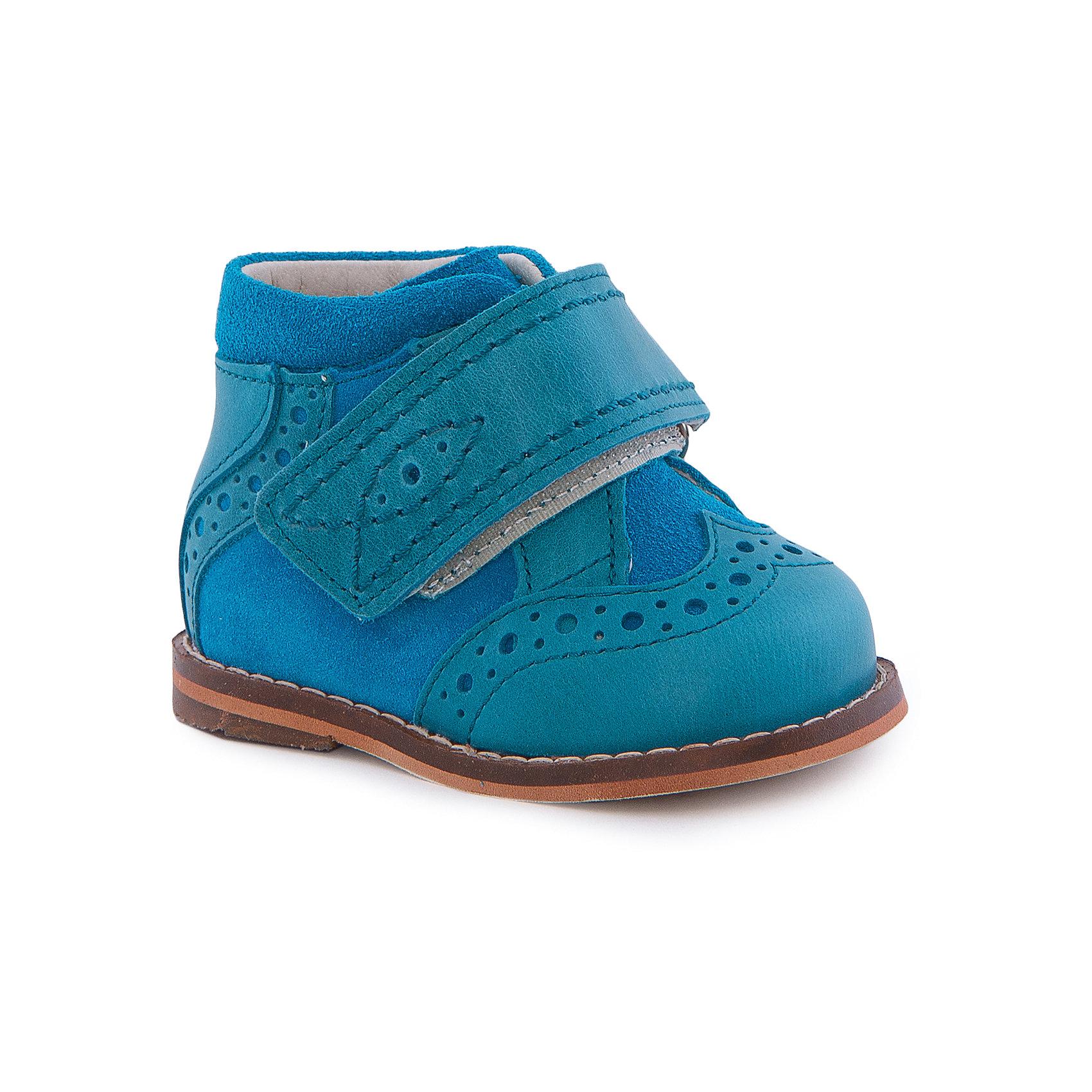 Ботинки для мальчика ТОТТОБотинки<br>Ботинки для мальчика ТОТТО<br>Стильные и удобные ботинки для мальчика от Российского производителя ТОТТО. Произведены в соответствии с рекомендациями ортопедов, имеют супинатор, который предотвращает образование плоскостопия и жесткий задник, продленный до середины стопы. Ботинки обеспечивают плотную фиксацию голеностопа и имеют мягкие нейтрализующие швы. Каблук Томаса распределяет нагрузку на стопу и не дает ей заваливаться внутрь. Свободная, широкая передняя часть ботинка не ограничивает формирование и рост детской стропы и пальчиков. Упругая подошва позволяет защитить еще не развитые мышцы стоп и связки от растяжения и повреждения. Насыщенный синий цвет ботинок отлично сочетается с морскими отттенками деталей ботинок. Удобная липучка позволяет легко одеть и снять обувь. Идеальные ботиночки для первых шажков и не только!<br>Дополнительная информация:<br>- Тип застежки: липучка<br>Состав:<br>- Натуральная кожа<br>Ботинки для мальчика ТОТТО можно купить в нашем магазине.<br>Подробнее:<br>Для детей в возрасте: от 0-3 мес.<br>Номер товара: 4794655<br>Страна производитель: Российская Федерация<br><br>Ширина мм: 262<br>Глубина мм: 176<br>Высота мм: 97<br>Вес г: 427<br>Цвет: синий<br>Возраст от месяцев: 0<br>Возраст до месяцев: 3<br>Пол: Мужской<br>Возраст: Детский<br>Размер: 16,20,17,18,19<br>SKU: 4794654