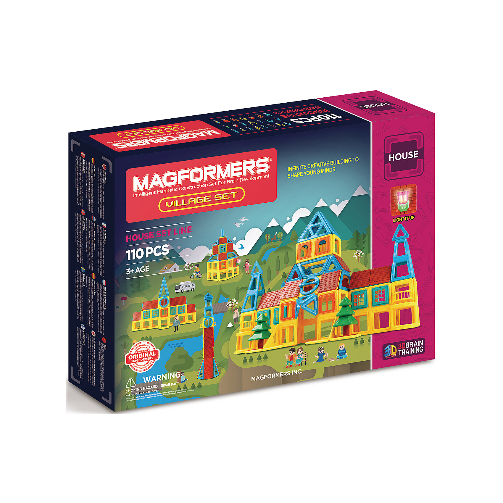 MAGFORMERS Магнитный конструктор Village, MAGFORMERS magformers tiny friends