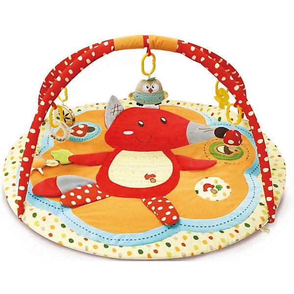 Купить Развивающий коврик Лисичка и ее друзья с дугами, Roxy-Kids, Китай, Унисекс