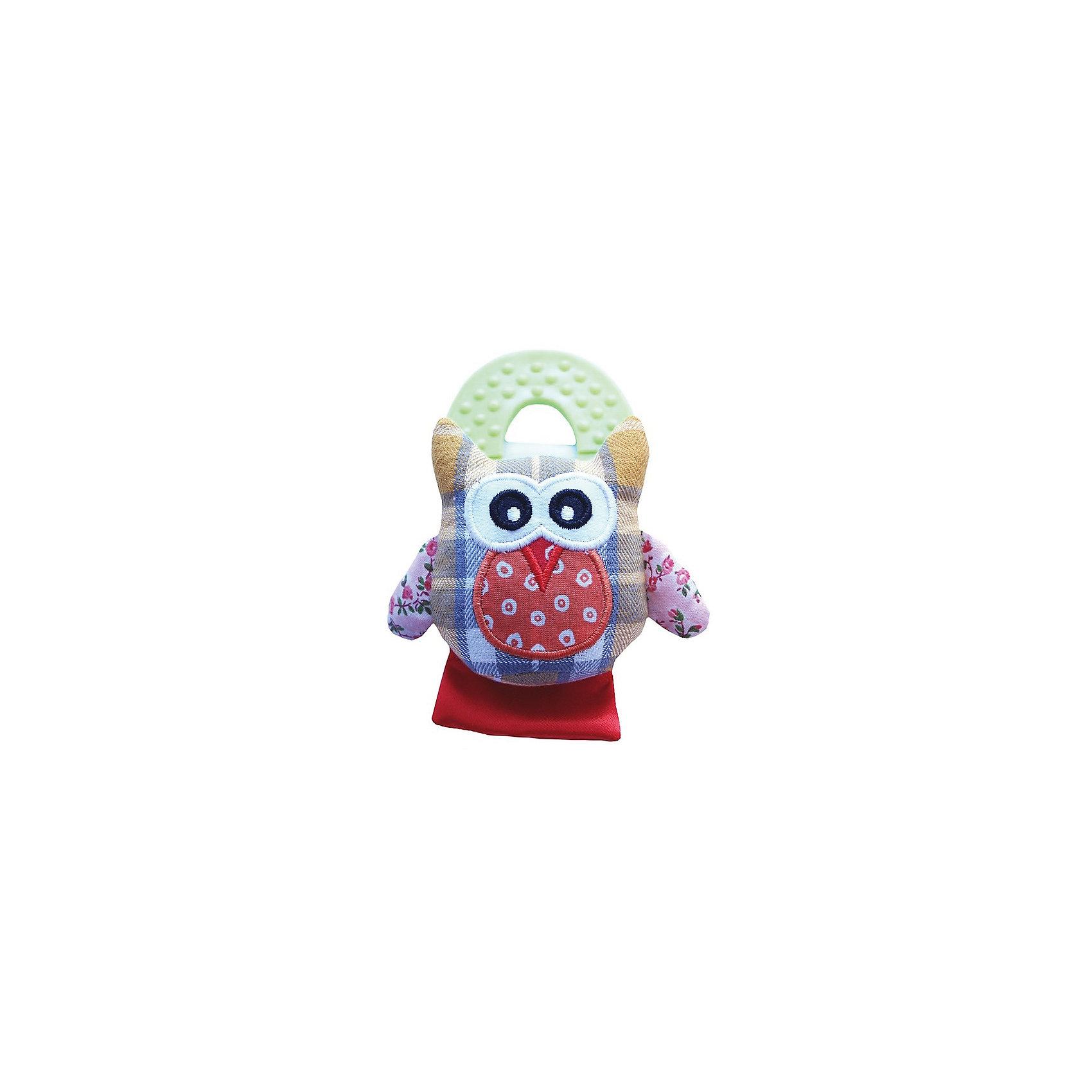 Roxy-Kids Развивающая игрушка на руку с прорезывателем Совенок Угу, Roxy-Kids детский ковшик roxy kids с силиконовой ручкой 0 7л голубой