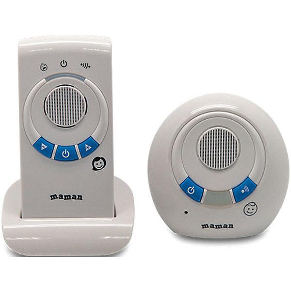 Радионяня RD-2810, MamanРадионяни<br>Эта беспроводная система аудио-наблюдения поможет контролировать поведение ребенка в детской комнате. Дальность действия устройства составляет 300 метров, сверхчувствительный датчик улавливает малейший шум или шорох ребенка. Радионяня Maman RD-2810 работает как от сети, так и от батареек, отличается интуитивно понятным интерфейсом и простотой управления.<br><br>Дополнительная информация:<br>- Комплектация: передатчик, приемник, сетевой адаптер, подставка, инструкция<br>- Питание: от сети (220 В)/от аккумуляторов 2хААА (идут в комплекте)<br>- Радиуса действия: от 201 до 300 метров<br>- Размер детского блока: 90х90х50 мм<br>- Вес детского блока: 0,07 кг<br>- Размер родительского блока: 58х118х38 мм<br>- Вес родительского блока: 0,08 кг<br><br>Радионяню RD-2810, Maman можно купить в нашем интернет-магазине.<br><br>Ширина мм: 110<br>Глубина мм: 265<br>Высота мм: 185<br>Вес г: 625<br>Возраст от месяцев: 0<br>Возраст до месяцев: 36<br>Пол: Унисекс<br>Возраст: Детский<br>SKU: 4795355