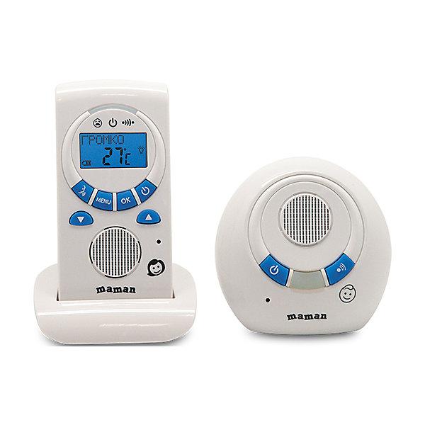 Радионяня RD-2820, MamanРадионяни<br>Радионяня Maman RD-2820 обеспечит полноценный комфорт и спокойствие для родителей. Устройство оснащено сверхчувствительным микрофоном, который будет передавать малейший шорох, исходящий из детской комнаты. У данной модели предусмотрен режим «обратной связи», благодаря которому вы можете поговорить с малышом. Радионяня Maman RD-2820 отличается интуитивно понятным интерфейсом, при необходимости в ней можно настроить таймер кормления, что бы четко соблюдать режим питания ребенка.<br><br>Дополнительная информация:<br>- Комплектация: передатчик, приемник, сетевой адаптер, подставка, инструкция<br>- Питание: от сети (220 В)/от аккумуляторов 2хААА (идут в комплекте)<br>- Радиуса действия: от 201 до 300 метров<br>- Размер детского блока: 90х90х50 мм<br>- Вес детского блока: 0,09 кг<br>- Размер родительского блока: 60х120х35 мм<br>- Вес родительского блока: 0,11 кг<br><br>Радионяню RD-2820, Maman можно купить в нашем интернет-магазине.<br><br>Ширина мм: 110<br>Глубина мм: 265<br>Высота мм: 185<br>Вес г: 670<br>Возраст от месяцев: 0<br>Возраст до месяцев: 36<br>Пол: Унисекс<br>Возраст: Детский<br>SKU: 4795356