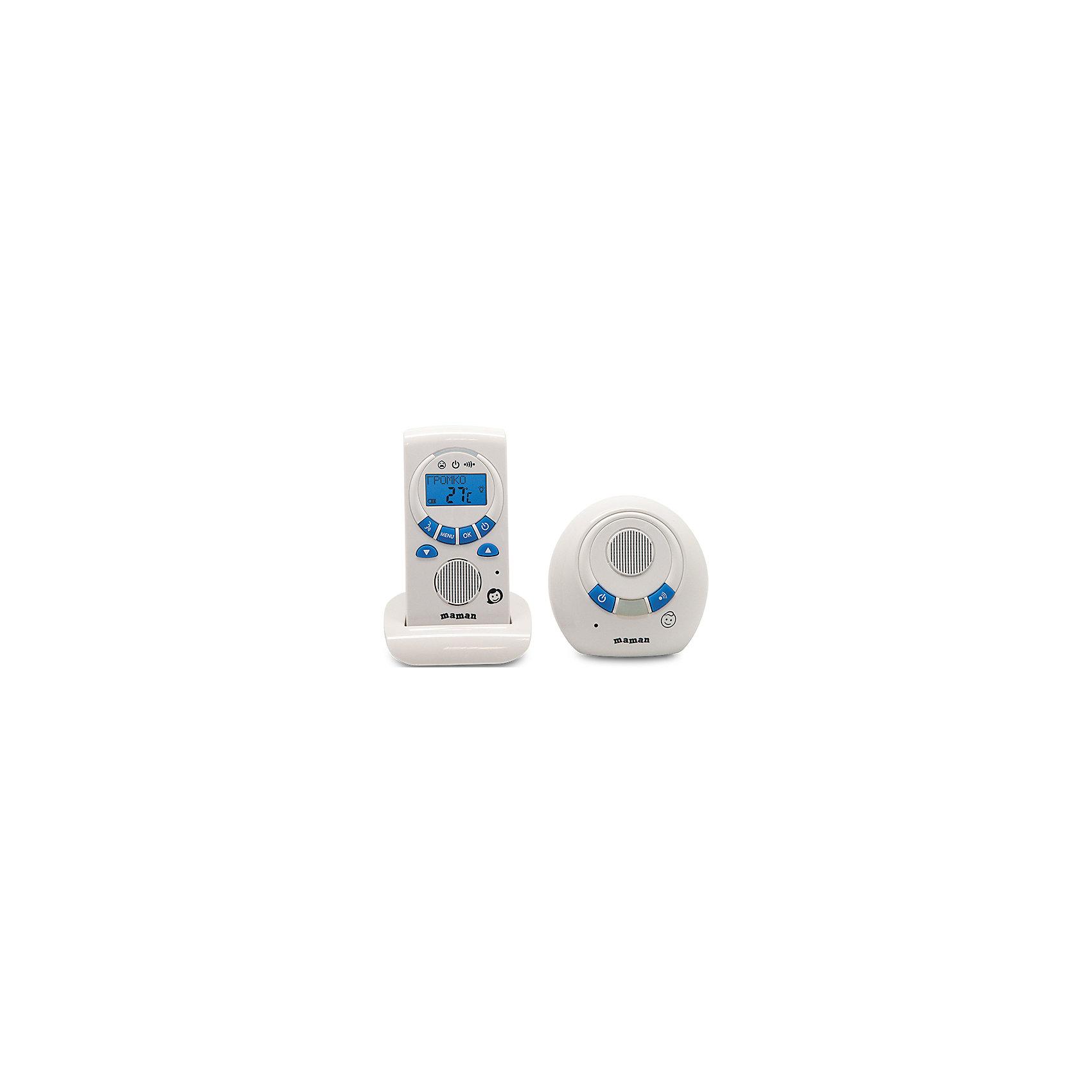 Радионяня RD-2820, MamanРадионяня Maman RD-2820 обеспечит полноценный комфорт и спокойствие для родителей. Устройство оснащено сверхчувствительным микрофоном, который будет передавать малейший шорох, исходящий из детской комнаты. У данной модели предусмотрен режим «обратной связи», благодаря которому вы можете поговорить с малышом. Радионяня Maman RD-2820 отличается интуитивно понятным интерфейсом, при необходимости в ней можно настроить таймер кормления, что бы четко соблюдать режим питания ребенка.<br><br>Дополнительная информация:<br>- Комплектация: передатчик, приемник, сетевой адаптер, подставка, инструкция<br>- Питание: от сети (220 В)/от аккумуляторов 2хААА (идут в комплекте)<br>- Радиуса действия: от 201 до 300 метров<br>- Размер детского блока: 90х90х50 мм<br>- Вес детского блока: 0,09 кг<br>- Размер родительского блока: 60х120х35 мм<br>- Вес родительского блока: 0,11 кг<br><br>Радионяню RD-2820, Maman можно купить в нашем интернет-магазине.<br><br>Ширина мм: 110<br>Глубина мм: 265<br>Высота мм: 185<br>Вес г: 670<br>Возраст от месяцев: 0<br>Возраст до месяцев: 36<br>Пол: Унисекс<br>Возраст: Детский<br>SKU: 4795356