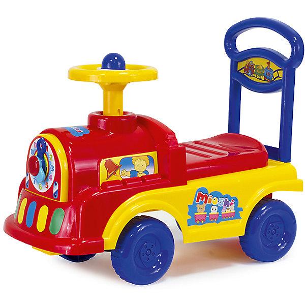 Автомобиль-каталка Паровозик, MioshiМашинки-каталки<br>Толокар – это современная машинка-каталка, которая предназначена для детей от 1 года и подходит для игр дома и на улице. Машинка оснащена игровыми элементами, которые помогут развить тактильные ощущения и визуально-звуковое восприятие малыша. Наличие спинки обеспечит удобное положение ребёнка во время игры, а яркий дизайн будет радовать не только детей, но и взрослых!<br><br>Преимущества: <br>• Привлекательный дизайн<br>• Функциональные элементы: спинка-ручка, сиденье-багажник<br>• Развивающая игровая панель<br>• Упаковка на русском языке<br><br>Ширина мм: 500<br>Глубина мм: 230<br>Высота мм: 415<br>Вес г: 2120<br>Возраст от месяцев: 12<br>Возраст до месяцев: 36<br>Пол: Унисекс<br>Возраст: Детский<br>SKU: 4795401