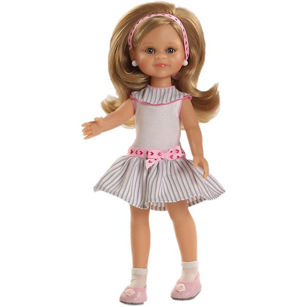 Кукла Клэр, 32 см, Paola ReinaКуклы<br>Кукла имеет нежный ванильный аромат; уникальный и неповторимый дизайн лица и тела; ручная работа (ресницы, веснушки, щечки, губы, прическа); волосы легко расчесываются и блестят; ручки, ножки и голова поворачиваются. <br>Качество подтверждено нормами безопасности EN17 ЕЭС. <br>Материалы: кукла изготовлена из винила; глаза выполнены в виде кристалла из прозрачного твердого пластика; волосы сделаны из высококачественного нейлона.<br><br>Ширина мм: 110<br>Глубина мм: 230<br>Высота мм: 410<br>Вес г: 667<br>Возраст от месяцев: 36<br>Возраст до месяцев: 144<br>Пол: Женский<br>Возраст: Детский<br>SKU: 4795915