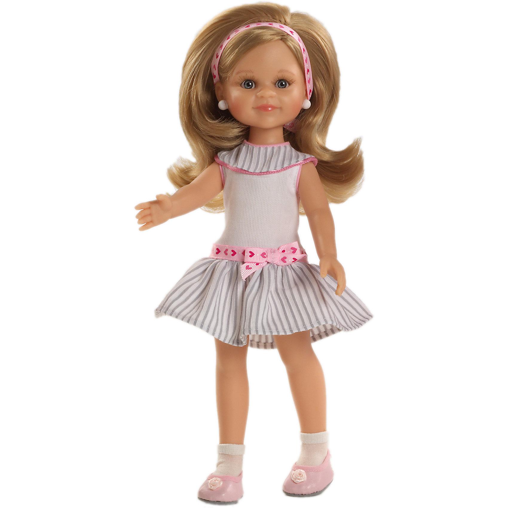 Кукла Клэр, 32 см, Paola ReinaКлассические куклы<br>Кукла имеет нежный ванильный аромат; уникальный и неповторимый дизайн лица и тела; ручная работа (ресницы, веснушки, щечки, губы, прическа); волосы легко расчесываются и блестят; ручки, ножки и голова поворачиваются. <br>Качество подтверждено нормами безопасности EN17 ЕЭС. <br>Материалы: кукла изготовлена из винила; глаза выполнены в виде кристалла из прозрачного твердого пластика; волосы сделаны из высококачественного нейлона.<br><br>Ширина мм: 110<br>Глубина мм: 230<br>Высота мм: 410<br>Вес г: 667<br>Возраст от месяцев: 36<br>Возраст до месяцев: 144<br>Пол: Женский<br>Возраст: Детский<br>SKU: 4795915