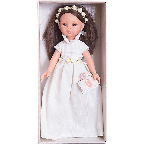Кукла Кэрол, 32 см, Paola ReinaБренды кукол<br>Кукла имеет нежный ванильный аромат; уникальный и неповторимый дизайн лица и тела; ручная работа (ресницы, веснушки, щечки, губы, прическа); волосы легко расчесываются и блестят; ручки, ножки и голова поворачиваются. <br>Качество подтверждено нормами безопасности EN17 ЕЭС. <br>Материалы: кукла изготовлена из винила; глаза выполнены в виде кристалла из прозрачного твердого пластика; волосы сделаны из высококачественного нейлона.<br><br>Ширина мм: 110<br>Глубина мм: 230<br>Высота мм: 410<br>Вес г: 667<br>Возраст от месяцев: 36<br>Возраст до месяцев: 144<br>Пол: Женский<br>Возраст: Детский<br>SKU: 4795917