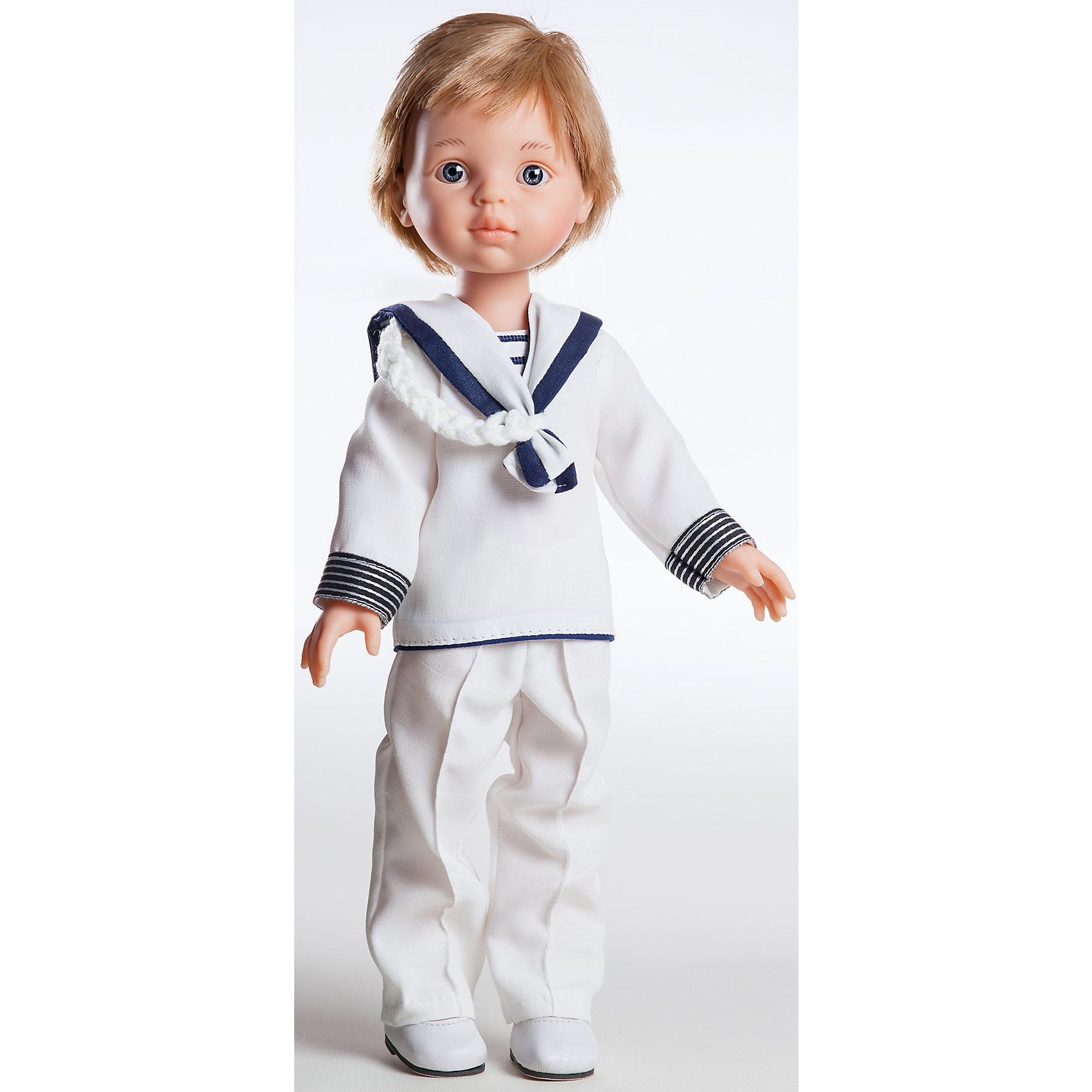 Кукла Луис, 32 см, Paola ReinaКлассические куклы<br>Кукла имеет нежный ванильный аромат; уникальный и неповторимый дизайн лица и тела; ручная работа (ресницы, веснушки, щечки, губы, прическа); волосы легко расчесываются и блестят; ручки, ножки и голова поворачиваются. <br>Качество подтверждено нормами безопасности EN17 ЕЭС. <br>Материалы: кукла изготовлена из винила; глаза выполнены в виде кристалла из прозрачного твердого пластика; волосы сделаны из высококачественного нейлона.<br><br>Ширина мм: 110<br>Глубина мм: 230<br>Высота мм: 410<br>Вес г: 667<br>Возраст от месяцев: 36<br>Возраст до месяцев: 144<br>Пол: Женский<br>Возраст: Детский<br>SKU: 4795918
