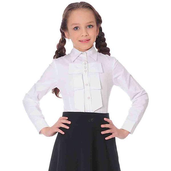 Блузка для девочки Анфиса SkylakeБлузки и рубашки<br>Блузка для девочки Анфиса от известного бренда Skylake.<br>Блузка прилегающего силуэта для девочек младшего и  среднего  школьного возраста.<br>Изготовлена из смесовой  хлопковой ткани белого  цвета.<br>Застежка спереди на планку с пуговицами.<br>Воротник отложной на отрезной стойке.<br>Полочки и спинка блузки с талиевыми вытачками.<br>Полочка на кокетке украшена тремя рядами плиссированных оборок.<br>Рукава втачные короткие типа фонарик на резинке.<br><br>Состав:<br>65%полиэстер,35% хлопок<br><br>Ширина мм: 186<br>Глубина мм: 87<br>Высота мм: 198<br>Вес г: 197<br>Цвет: белый<br>Возраст от месяцев: 108<br>Возраст до месяцев: 120<br>Пол: Женский<br>Возраст: Детский<br>Размер: 140,146,152,158,164,170,134<br>SKU: 4796575
