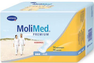 Прокладки MoliMed Premium midi впитываемость 467 мл, 14шт, Hartmann