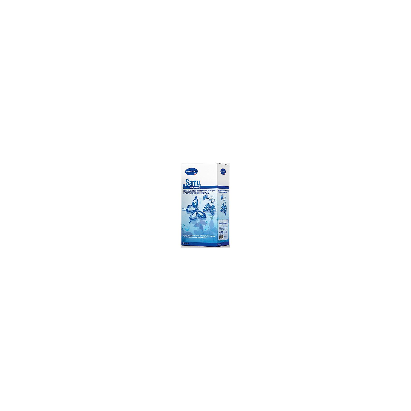 Прокладки Samu для рожениц стерильные (10шт.), HartmannСредства для ухода<br>Впитывающая подушечка данных прокладок изготовлена из мягкой распушенной целлюлозы с высокой сорбционной способностью.<br>Подушечка помещена между слоями крепированной бумаги и обернутой нетканым материалом. Гигиенические прокладки для рожениц стерильны.<br><br>Ширина мм: 120<br>Глубина мм: 220<br>Высота мм: 150<br>Вес г: 250<br>Возраст от месяцев: 216<br>Возраст до месяцев: 1188<br>Пол: Унисекс<br>Возраст: Детский<br>SKU: 4796673