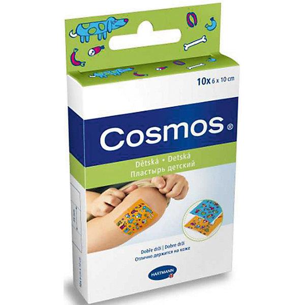 Пластырь пластинки для детей с рисунком, 10 шт., Cosmos kidsУход за ребенком<br>Cosmos kids - уникальный пластырь для детей с веселыми картинками.<br> Специально создан для ухода за небольшими ссадинами и ранками.<br>Все пластыри отлично пропускают воздух, поэтому кожа под ними не раздражается и дышит, благодаря этому они безболезненно удаляются.<br>Ширина мм: 20; Глубина мм: 75; Высота мм: 130; Вес г: 22; Возраст от месяцев: 18; Возраст до месяцев: 60; Пол: Унисекс; Возраст: Детский; SKU: 4796675;