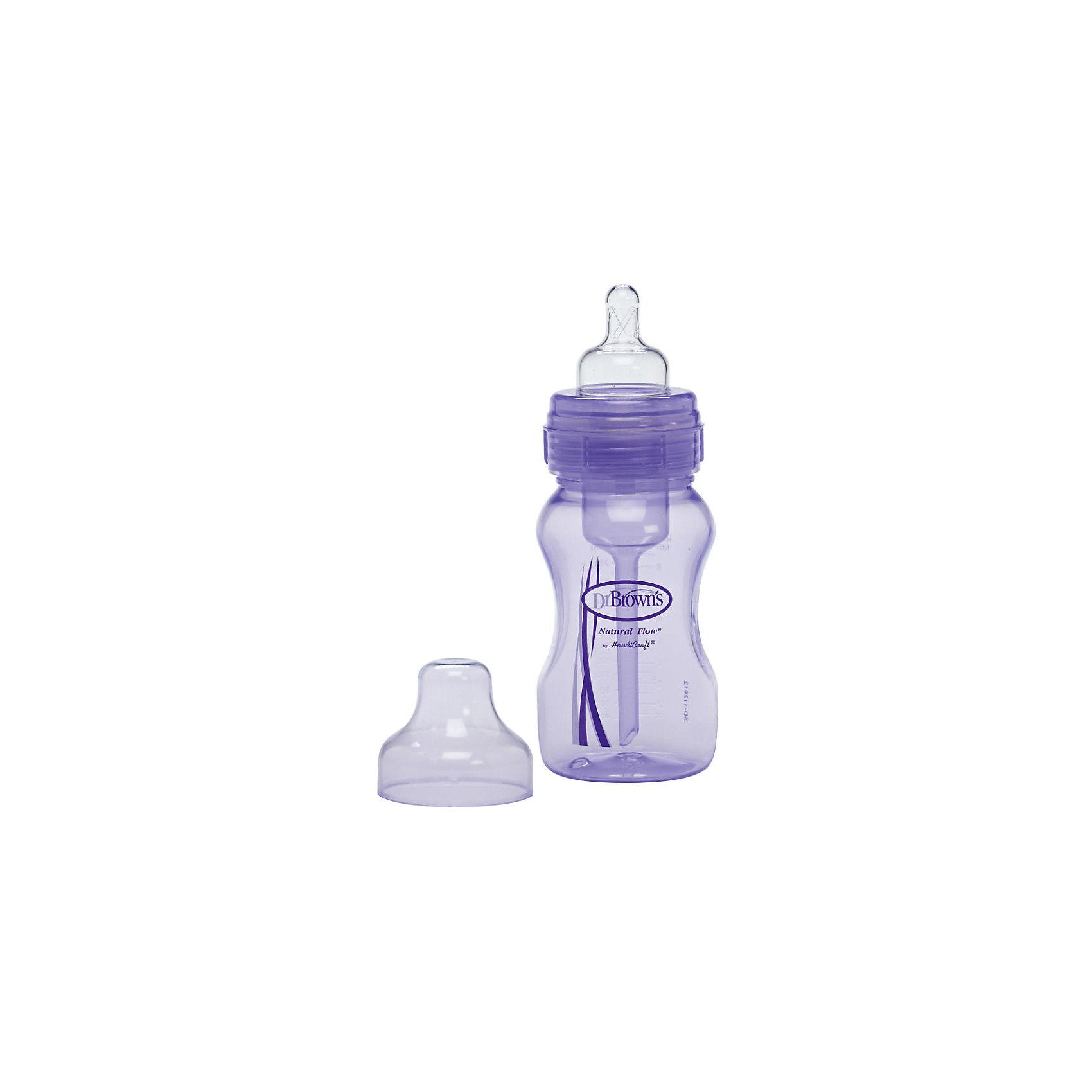 Бутылочка с широким горлышком 240 мл, Dr. Brown, лавандоваяБутылочка для кормления малыша с широким горлышком, создает условия, аналогичные кормлению грудью. Бутылочка прекрасно подойдет для смешенного и искусственного вскармливания, а уникальная вентиляционная система сведет к минимуму контакт воздуха с грудным молоком, сохраняя такие важные питательные вещества как витамины С, А и Е.<br><br>Дополнительная информация:<br><br>- Возраст: от 0 до 3 месяцев.<br>- Объем: 240 мл.<br>- Материал: полипропилен.<br>- Цвет: лавандовый.<br><br>Купить бутылочку с широким горлышком 240 мл., в лавандовом цвете, от Dr. Brown, можно в нашем магазине.<br><br>Ширина мм: 70<br>Глубина мм: 70<br>Высота мм: 227<br>Вес г: 154<br>Возраст от месяцев: -2147483648<br>Возраст до месяцев: 2147483647<br>Пол: Унисекс<br>Возраст: Детский<br>SKU: 4796746