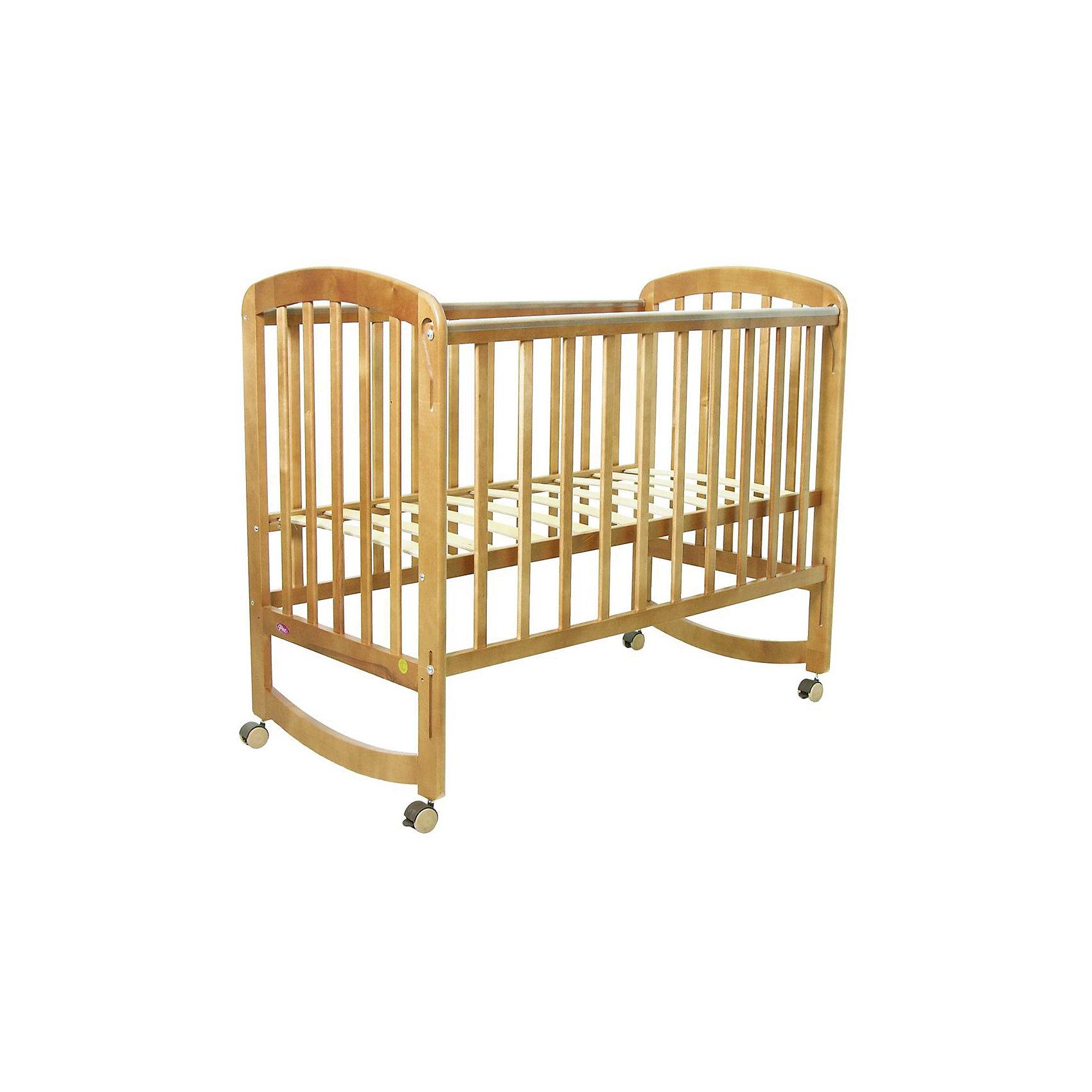 Кроватка 304, ФеяКроватки<br>Кроватка Фея подарит малышам комфортный отдых и сладкий сон с первых дней жизни. Кроватка изготовлена из высококачественных экологичных, безопасных для детей материалов, она вместительная и прочная, поэтому прослужит вам и вашему малышу очень долго. Реечное дно модели регулируется в двух положениях - когда ваш кроха подрастет, опустите ложе и не беспокойтесь о том, что юный непоседа сможет самостоятельно выбраться из своего гнездышка.  Благодаря специальному механизму, боковая стенка кровати быстро и легко опускается даже одной рукой. Кровать имеет колесики, с помощью которых ее удобно перемещать по комнате, при желании колеса можно снять, преобразовав кровать в качалку. <br><br>Дополнительная информация:<br><br>- Материал: дерево (массив березы).<br>- Размеры: 124,5х67,5х105 см.<br>- Для матраса размером: 120x60 см.<br>- Ложе регулируется в 2-х положениях.<br>- Передняя стенка опускается. <br>- Дно: реечное.<br>- Стенки: реечные. <br>- Съемные колеса.<br>- Качалка. <br>- Накладки из ПВХ. <br><br>Кроватку 304, Фея, можно купить в нашем магазине.<br><br>Ширина мм: 1005<br>Глубина мм: 1248<br>Высота мм: 675<br>Вес г: 17700<br>Возраст от месяцев: 0<br>Возраст до месяцев: 36<br>Пол: Унисекс<br>Возраст: Детский<br>SKU: 4796972