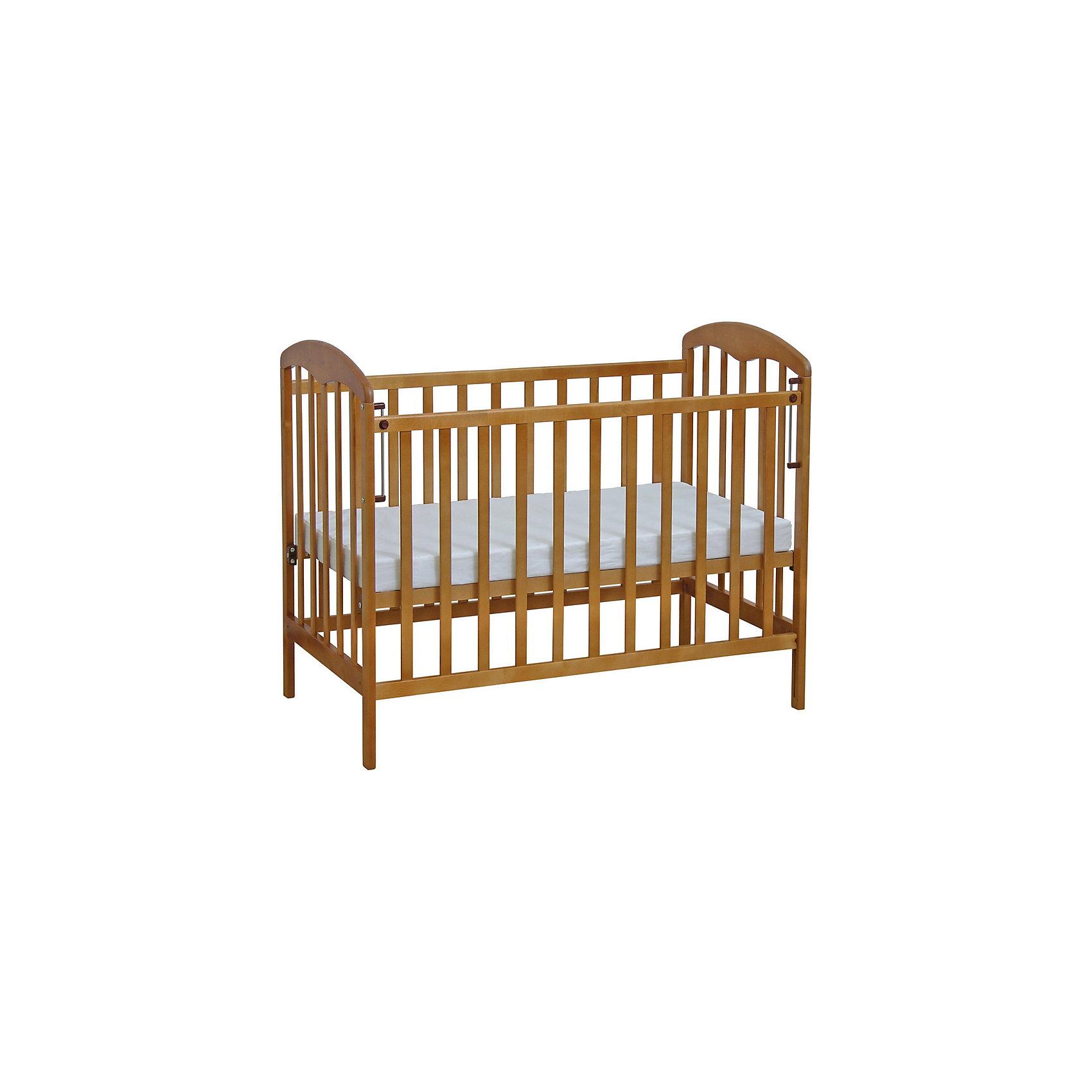 Кроватка 323, Фея, медовый  кровать с подъемным механизмом с тумбочками