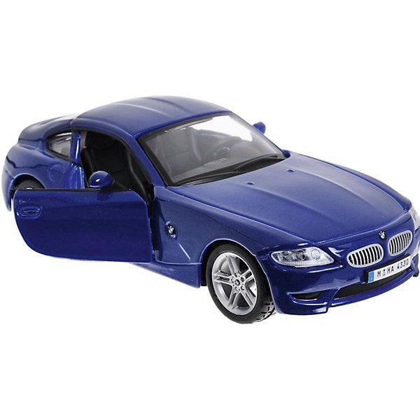 Машина BMW Z4 M COUPE металл., 1:32, синяя, BburagoМашинки<br>Коллекционная модель машины BMW Z4 M COUPE металл., 1:32, Bburago (Бураго) – миниатюрная копия одного из популярных автомобилей марки BMW. Литой корпус автомобиля, изготовленный из металла и окрашенный в стильный насыщенный синий цвет настоящими автомобильными красками, обладает высокими противоядерными свойствами и устойчивостью к царапинам и повреждениям. <br>Не смотря на масштаб машинки 1:32, в игрушечной копии BMW Z4 M COUPE отражены все конструкторские особенности и дизайнерские элементы этого популярного немецкого автомобиля:  подробная детализация автомобильного салона, под капотом очень подробная детализация  всех составляющих главного места машины: радиатор, аккумулятор, бензонасос, расширительный бачок, бачок омывателя лобового стекла, бачки с тормозной жидкостью и жидкостью для сцепления, реле и монтажный блок. Играя с такой игрушкой, любой мальчишка не только развлекается, но и изучает внутреннее устройство автомобиля. Особо порадуют открывающиеся двери салона, крутящиеся колоса и открывающийся капот.<br>Данная модель будет интересна не только маленьким любителям поиграть в машинки, но и станет достойным украшением любой коллекции автомобильных моделек. <br><br>Дополнительная информация:<br><br>- Вид игр: сюжетно-ролевые игры <br>- Предназначение: для дома, коллекционирование<br>- Материал: металл, пластик<br>- Размер (ДхШхВ): 16,5*8*7,5 мм<br>- Масштаб: 1:32<br>- Вес: 189 г<br>- Особенности ухода: протирать влажной губкой<br><br>ВНИМАНИЕ! Данный артикул имеется в наличии в разных цветовых исполнениях (синий металлик, белый). К сожалению, заранее выбрать определенный цвет невозможно. <br><br><br>Подробнее:<br><br>• Для детей в возрасте: от 3 лет и до неограниченного возраста<br>• Страна производитель: Китай<br>• Торговый бренд: Bburago<br><br>Коллекционную модель машины BMW Z4 M COUPE металл., 1:32, Bburago (Бураго) можно купить в нашем интернет-магазине.<br><br>Ширина мм: 165<br>Глубина мм: 8