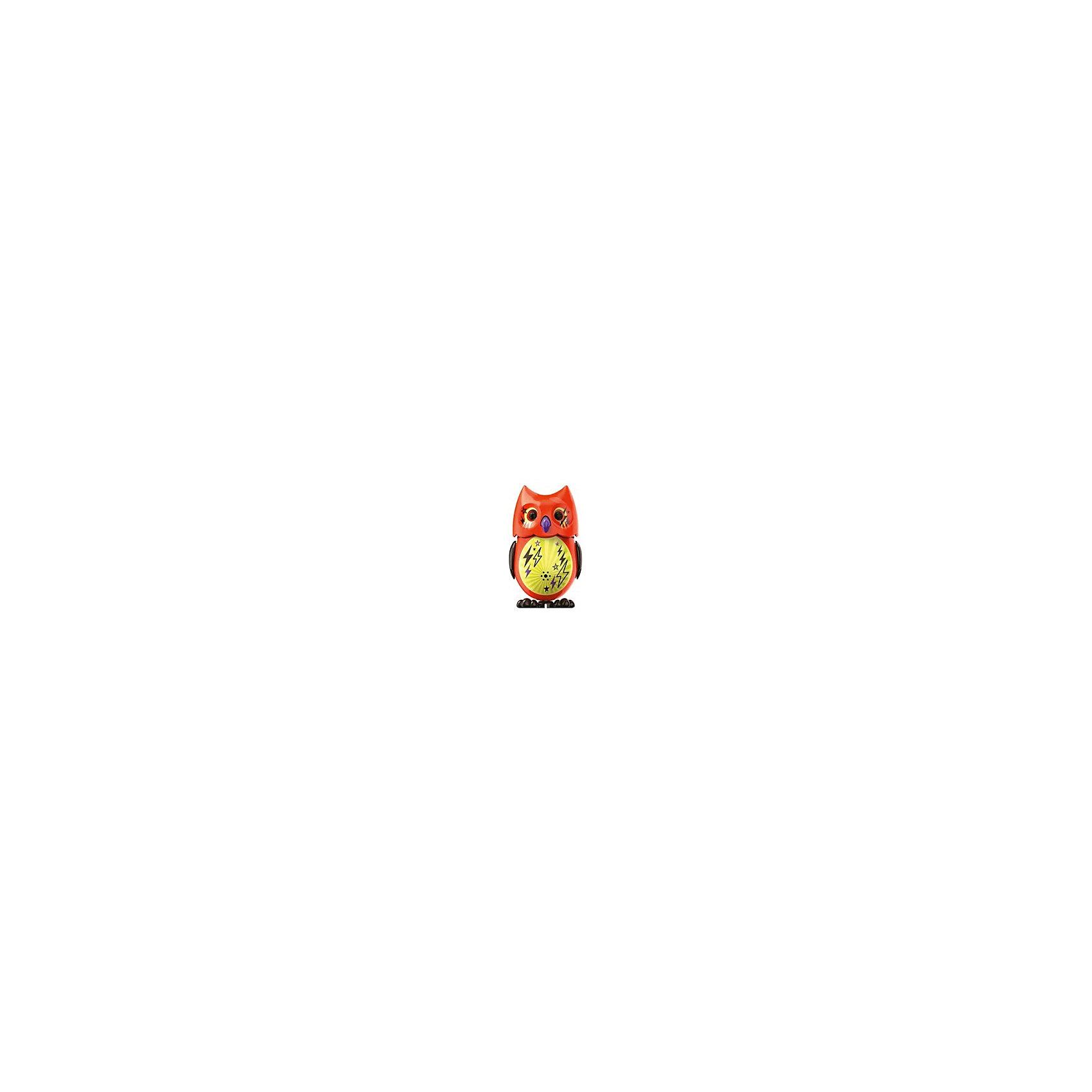 Поющая сова с кольцом, оранжевая, DigiBirdsИнтерактивные животные<br>Поющая сова с кольцом, оранжевая, DigiBirds, Silverlit (Сильверлит) ? интерактивная птичка от мирового производителя детских товаров Silverlit (Сильверлит). Сова оснащена световыми и звуковыми эффектами. Ее творческий репертуар состоит из 55 песенок, которые исполняются как в сольном виде, так и в хоровом. Имея столь разнообразный репертуар, эта игрушка вряд ли быстро наскучит вашему ребенку. Активируется сова тремя способами: на нее достаточно подуть или посвистеть в свисток, который идет в комплекте, или резко взмахнуть по воздуху, держа птичку в руке. Кроме того, сова умеет танцевать: в такт музыке машет крыльями, раскрывает клюв и поворачивает головой. Кроме того, пение сопровождается свечением больших очаровательных глаз.<br>Поющая сова с кольцом, оранжевая, DigiBirds, Silverlit (Сильверлит) ? совершенно уникальная игрушка, которая не только развлекает вашего ребенка, но и занимается его музыкальным развитием. В первую очередь, она способствует формированию музыкального слуха и памяти. Простые действия: подуть в свисток, подуть на сову ? простые, но очень эффективные упражнения, которые направлены на развитие речевого аппарата.<br>Поющая сова с кольцом, оранжевая, DigiBirds, Silverlit (Сильверлит) ? это миниатюрный музыкальный центр для вашего ребенка.<br><br>Дополнительная информация:<br><br>- Вид игр: сюжетно-ролевые игры <br>- Предназначение: для дома<br>- Батарейки: 3 шт. LR44<br>- Материал: высококачественный пластик<br>- Размер (ДхШхВ): 6,4*15,2*10,2 см<br>- Вес: 91 г<br>- Комплектация: сова, свисток-кольцо для птички, инструкция, батарейки<br>- Особенности ухода: протирать влажной губкой<br><br>ВНИМАНИЕ! Данный артикул имеется в наличии в разных цветовых исполнениях (сиреневый, красный, бирюзовый, белый, розовый, оранжевый). К сожалению, заранее выбрать определенный цвет невозможно. <br><br>Подробнее:<br><br>• Для детей в возрасте: от 3 лет и до 7 лет <br>• Страна производитель: Китай<b