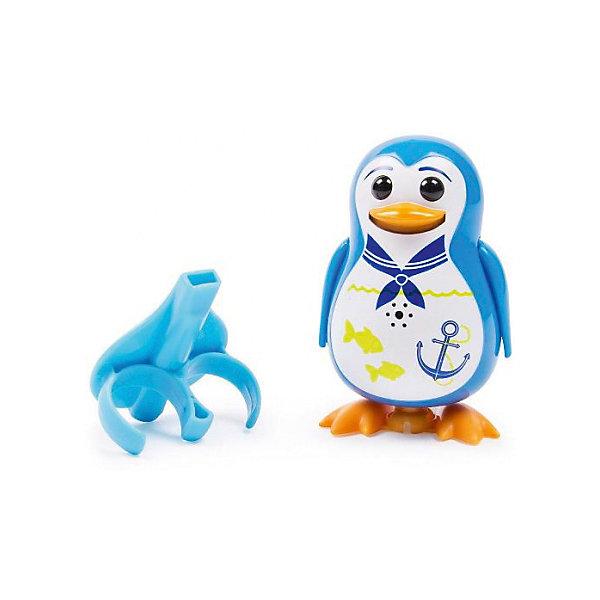 Поющий пингвин с кольцом, синий, DigiBirdsИнтерактивные животные<br>Поющий пингвин с кольцом, синий, DigiBirds, Silverlit (Сильверлит) ? интерактивная птичка от мирового производителя детских товаров Silverlit (Сильверлит). Очаровательный пингвин световыми и звуковыми эффектами. Его творческий репертуар состоит из 55 песенок, которые исполняются как в сольном виде, так и в хоровом. Имея столь разнообразный репертуар, эта игрушка вряд ли быстро наскучит вашему ребенку. Активируется игрушка тремя способами: на нее достаточно подуть или посвистеть в свисток, который идет в комплекте, или резко взмахнуть по воздуху, держа птичку в руке. Кроме того, пингвин умеет танцевать: в такт музыке машет крыльями, покачивает корпусом, поворачивает головой и ракрывает клюв. Кроме того, каждый пингвин наделен своим уникальным движением.<br>Поющий пингвин с кольцом, синий, DigiBirds, Silverlit (Сильверлит) ? совершенно уникальная игрушка, которая не только развлекает вашего ребенка, но и занимается его музыкальным развитием. В первую очередь, она способствует формированию музыкального слуха и памяти. Простые действия: подуть в свисток, подуть на пингвина ? простые, но очень эффективные упражнения, которые направлены на развитие речевого аппарата.<br>Поющий пингвин с кольцом, синий, DigiBirds, Silverlit (Сильверлит) ? это миниатюрный музыкальный центр для вашего ребенка. <br><br>Дополнительная информация:<br><br>- Вид игр: сюжетно-ролевые игры <br>- Предназначение: для дома<br>Дополнительные функции: синхронизация со всеми персонажами DigiFriends<br>- Батарейки: 3 шт. LR44<br>- Материал: высококачественный пластик<br>- Размер (ДхШхВ): 6,4*15,2*10,2 см<br>- Вес: 91 г<br>- Комплектация: пингвин, свисток-кольцо для птички, инструкция, батарейки<br>- Особенности ухода: протирать влажной губкой<br><br>ВНИМАНИЕ! Данный артикул имеется в наличии в разных цветовых исполнениях (синий, фиолетовый, красный, черный, зеленый, желтый). К сожалению, заранее выбрать определенный цвет невозможно. <br><