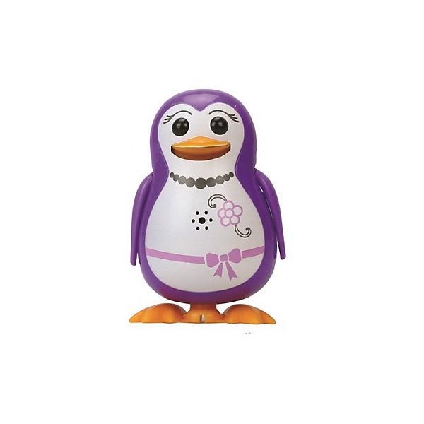 Поющий пингвин с кольцом, фиолетовый, DigiBirdsИнтерактивные животные<br>Поющий пингвин с кольцом, фиолетовый, DigiBirds, Silverlit (Сильверлит) ? интерактивная птичка от мирового производителя детских товаров Silverlit (Сильверлит). Очаровательный пингвин световыми и звуковыми эффектами. Его творческий репертуар состоит из 55 песенок, которые исполняются как в сольном виде, так и в хоровом. Имея столь разнообразный репертуар, эта игрушка вряд ли быстро наскучит вашему ребенку. Активируется игрушка тремя способами: на нее достаточно подуть или посвистеть в свисток, который идет в комплекте, или резко взмахнуть по воздуху, держа птичку в руке. Кроме того, пингвин умеет танцевать: в такт музыке машет крыльями, покачивает корпусом, поворачивает головой и ракрывает клюв. Кроме того, каждый пингвин наделен своим уникальным движением.<br>Поющий пингвин с кольцом, фиолетовый, DigiBirds, Silverlit (Сильверлит) ? совершенно уникальная игрушка, которая не только развлекает вашего ребенка, но и занимается его музыкальным развитием. В первую очередь, она способствует формированию музыкального слуха и памяти. Простые действия: подуть в свисток, подуть на нингвина ? простые, но очень эффективные упражнения, которые направлены на развитие речевого аппарата.<br>Поющий пингвин с кольцом, фиолетовый, DigiBirds, Silverlit (Сильверлит) ? это миниатюрный музыкальный центр для вашего ребенка. <br><br>Дополнительная информация:<br><br>- Вид игр: сюжетно-ролевые игры <br>- Предназначение: для дома<br>Дополнительные функции: синхронизация со всеми персонажами DigiFriends<br>- Батарейки: 3 шт. LR44<br>- Материал: высококачественный пластик<br>- Размер (ДхШхВ): 6,4*15,2*10,2 см<br>- Вес: 91 г<br>- Комплектация: пингвин, свисток-кольцо для птички, инструкция, батарейки<br>- Особенности ухода: протирать влажной губкой<br><br>ВНИМАНИЕ! Данный артикул имеется в наличии в разных цветовых исполнениях (синий, фиолетовый, красный, черный, зеленый, желтый). К сожалению, заранее выбрать определенный цв