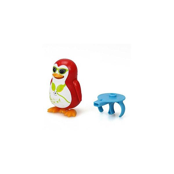Поющий пингвин с кольцом, красный, DigiBirdsИнтерактивные игрушки для малышей<br>Поющий пингвин с кольцом, красный, DigiBirds, Silverlit (Сильверлит) ? интерактивная птичка от мирового производителя детских товаров Silverlit (Сильверлит). Очаровательный пингвин световыми и звуковыми эффектами. Его творческий репертуар состоит из 55 песенок, которые исполняются как в сольном виде, так и в хоровом. Имея столь разнообразный репертуар, эта игрушка вряд ли быстро наскучит вашему ребенку. Активируется игрушка тремя способами: на нее достаточно подуть или посвистеть в свисток, который идет в комплекте, или резко взмахнуть по воздуху, держа птичку в руке. Кроме того, пингвин умеет танцевать: в такт музыке машет крыльями, покачивает корпусом, поворачивает головой и ракрывает клюв. Кроме того, каждый пингвин наделен своим уникальным движением.<br>Поющий пингвин с кольцом, красный, DigiBirds, Silverlit (Сильверлит) ? совершенно уникальная игрушка, которая не только развлекает вашего ребенка, но и занимается его музыкальным развитием. В первую очередь, она способствует формированию музыкального слуха и памяти. Простые действия: подуть в свисток, подуть на пингвина ? простые, но очень эффективные упражнения, которые направлены на развитие речевого аппарата.<br>Поющий пингвин с кольцом, красный, DigiBirds, Silverlit (Сильверлит) ? это миниатюрный музыкальный центр для вашего ребенка. <br><br>Дополнительная информация:<br><br>- Вид игр: сюжетно-ролевые игры <br>- Предназначение: для дома<br>Дополнительные функции: синхронизация со всеми персонажами DigiFriends<br>- Батарейки: 3 шт. LR44<br>- Материал: высококачественный пластик<br>- Размер (ДхШхВ): 6,4*15,2*10,2 см<br>- Вес: 91 г<br>- Комплектация: пингвин, свисток-кольцо для птички, инструкция, батарейки<br>- Особенности ухода: протирать влажной губкой<br><br>ВНИМАНИЕ! Данный артикул имеется в наличии в разных цветовых исполнениях (синий, фиолетовый, красный, черный, зеленый, желтый). К сожалению, заранее выбрать определенный цве