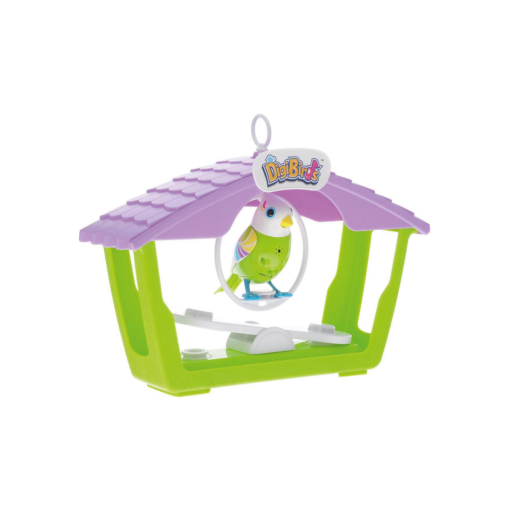 Птичка с домиком, зеленая, DigiBirdsПтичка с домиком, зеленая, DigiBirds, Silverlit (Сильверлит) ? музыкальная игрушка от мирового производителя детских товаров Silverlit (Сильверлит). Птичка оснащена световыми и звуковыми эффектами. Ее творческий репертуар состоит из 55 песенок, которые исполняются как в сольном виде, так и в хоровом. Птичка выполнена из высокопрочного пластика ярких расцветок. Активируется птичка тремя способами: на нее достаточно подуть или посвистеть в свисток, который идет в комплекте, или резко взмахнуть по воздуху, держа птичку в руке. <br>Птичка с домиком, зеленая, DigiBirds, Silverlit (Сильверлит) ? совершенно уникальная игрушка, которая не только развлекает вашего ребенка, но и занимается его музыкальным развитием. В первую очередь, она способствует формированию музыкального слуха и памяти. Простые действия: подуть в свисток, подуть на птичку ? простые, но очень эффективные упражнения, которые направлены на развитие речевого аппарата. <br>Птичка с домиком, зеленая, DigiBirds, Silverlit (Сильверлит) ? это миниатюрный музыкальный центр для вашего ребенка.<br><br>Дополнительная информация:<br><br>- Вид игр: сюжетно-ролевые игры <br>- Предназначение: для дома<br>- Дополнительные функции: синхронизация со всеми персонажами DigiFriends<br>- Батарейки: 3 шт. LR44<br>- Материал: высококачественный пластик<br>- Размер (ДхШхВ): 8,1*24,8*30,5 см<br>- Вес: 533 г<br>- Комплектация: птичка, свисток-кольцо, домик с качелями, инструкция, батарейки<br>- Особенности ухода: протирать влажной губкой<br><br>ВНИМАНИЕ! Данный артикул имеется в наличии в разных цветовых исполнениях (зеленый, розовый). К сожалению, заранее выбрать определенный цвет невозможно. <br><br>Подробнее:<br><br>• Для детей в возрасте: от 3 лет и до 7 лет <br>• Страна производитель: Китай<br>• Торговый бренд: Silverlit<br><br>Птичка с домиком, зеленую, DigiBirds, Silverlit (Сильверлит) можно купить в нашем интернет-магазине.<br><br>Ширина мм: 81<br>Глубина мм: 248<br>Высота мм: 305<br>Вес г