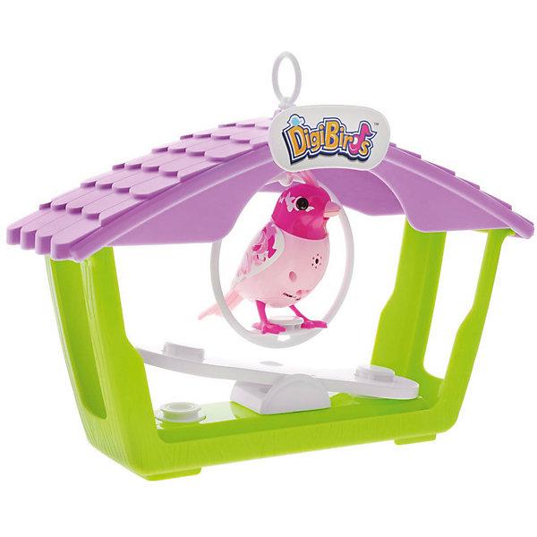 Птичка с домиком, розовая, DigiBirdsИнтерактивные животные<br>Птичка с домиком, розовая, DigiBirds, Silverlit (Сильверлит) ? музыкальная игрушка от мирового производителя детских товаров Silverlit (Сильверлит). Птичка оснащена световыми и звуковыми эффектами. Ее творческий репертуар состоит из 55 песенок, которые исполняются как в сольном виде, так и в хоровом. Птичка выполнена из высокопрочного пластика ярких расцветок. Активируется птичка тремя способами: на нее достаточно подуть или посвистеть в свисток, который идет в комплекте, или резко взмахнуть по воздуху, держа птичку в руке. <br>Птичка с домиком, розовая, DigiBirds, Silverlit (Сильверлит) ? совершенно уникальная игрушка, которая не только развлекает вашего ребенка, но и занимается его музыкальным развитием. В первую очередь, она способствует формированию музыкального слуха и памяти. Простые действия: подуть в свисток, подуть на птичку ? простые, но очень эффективные упражнения, которые направлены на развитие речевого аппарата. <br>Птичка с домиком, розовая, DigiBirds, Silverlit (Сильверлит) ? это миниатюрный музыкальный центр для вашего ребенка.<br><br>Дополнительная информация:<br><br>- Вид игр: сюжетно-ролевые игры <br>- Предназначение: для дома<br>- Дополнительные функции: синхронизация со всеми персонажами DigiFriends<br>- Батарейки: 3 шт. LR44<br>- Материал: высококачественный пластик<br>- Размер (ДхШхВ): 8,1*24,8*30,5 см<br>- Вес: 533 г<br>- Комплектация: птичка, свисток-кольцо, домик с качелями, инструкция, батарейки<br>- Особенности ухода: протирать влажной губкой<br><br>ВНИМАНИЕ! Данный артикул имеется в наличии в разных цветовых исполнениях (зеленый, розовый). К сожалению, заранее выбрать определенный цвет невозможно. <br><br>Подробнее:<br><br>• Для детей в возрасте: от 3 лет и до 7 лет <br>• Страна производитель: Китай<br>• Торговый бренд: Silverlit<br><br>Птичка с домиком, розовую, DigiBirds, Silverlit (Сильверлит) можно купить в нашем интернет-магазине.<br><br>Ширина мм: 81<br>Глубина мм: 248<
