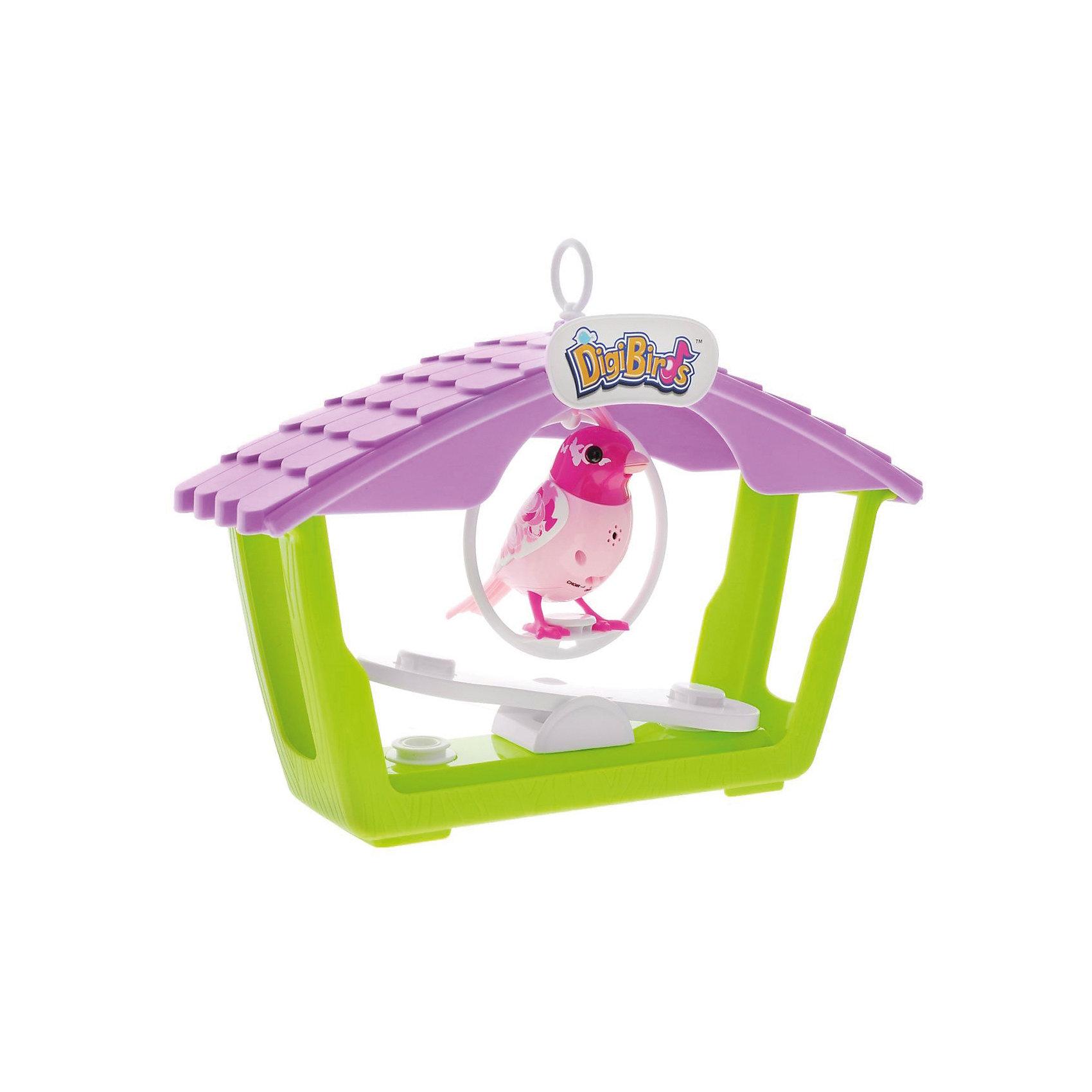 Птичка с домиком, розовая, DigiBirds