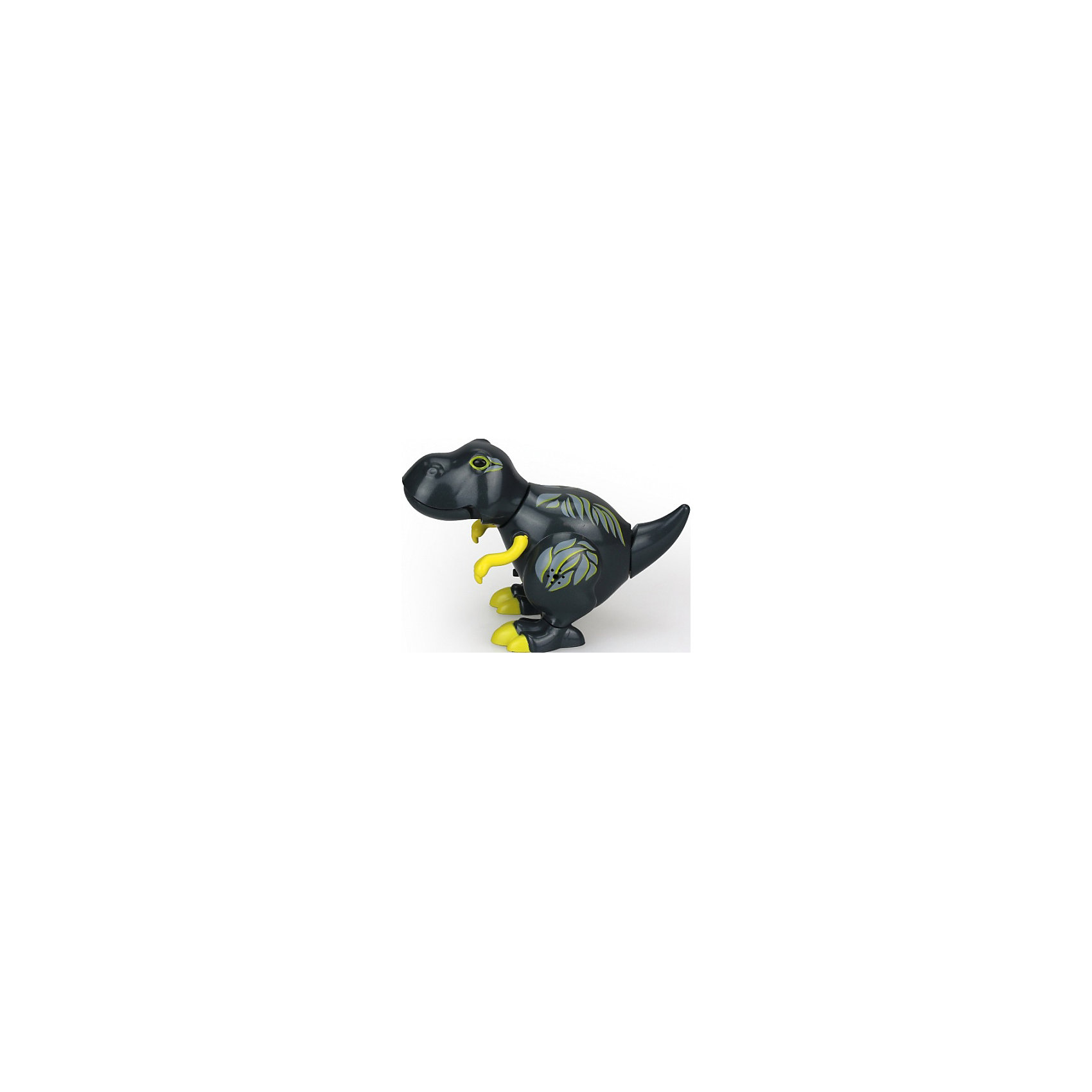 - Динозавр, DigiBirds, черный silverlit digibirds пингвин фигурист с кольцом серый