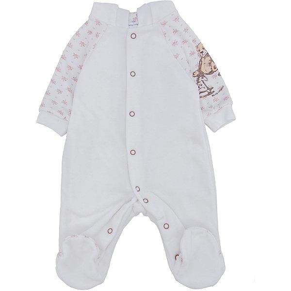 Комбинезон МамуляндияКомбинезоны<br>Велюровый комбинезон для новорожденных. Удобное расположение кнопок для переодевания малыша. <br>Состав 100% хлопок. <br>Рекомендации по уходу: стирать при 40 С, гладить при средней температуре, носить с удовольствием.  Состав: 100% хлопок<br>Ширина мм: 157; Глубина мм: 13; Высота мм: 119; Вес г: 200; Цвет: бежевый; Возраст от месяцев: 0; Возраст до месяцев: 3; Пол: Унисекс; Возраст: Детский; Размер: 56,62; SKU: 4797245;