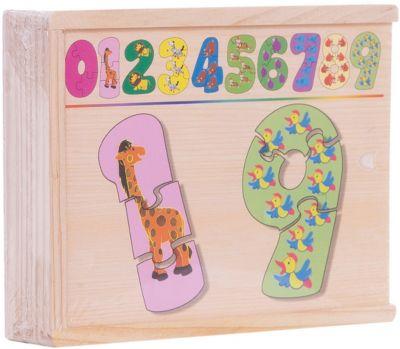 Набор цифры-пазлы (1-9 маленькие), СТЕЛЛА+