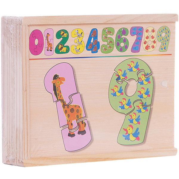 Набор цифры-пазлы (1-9 маленькие), СТЕЛЛА+Пазлы для малышей<br><br>Ширина мм: 190; Глубина мм: 140; Высота мм: 40; Вес г: 800; Возраст от месяцев: 36; Возраст до месяцев: 60; Пол: Унисекс; Возраст: Детский; SKU: 4797404;