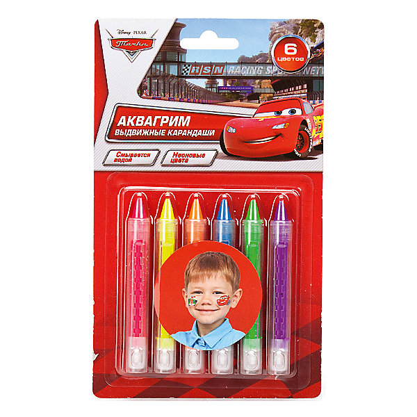 Аквагрим карандаши Multiart, Disney CarsТачки<br>Высококачественные карандаши подходят для рисования на теле, они абсолютно нетоксичные и гипоаллергенные. Штрихи, остающиеся за этим чудо-мелком, яркие, хорошо заметны, а если выключить свет — вас ждет сюрприз — они светятся! В состав карандашей добавлены безопасные неоновые элементы, грим легко смывается водой. Ваши дети часами будут придаваться этому увлекательному занятию, а когда реализация бодиарта будет окончена, можно устроить дискотеку!<br><br>Дополнительная информация:<br><br>- Возраст: от 3 лет.<br>- 6 цветов.<br>- Размер упаковки: 12х13х2 см.<br>- Вес в упаковке: 80 г.<br><br>Купить аквагрим мелки Multiart Disney Cars можно в нашем магазине.<br><br>Ширина мм: 21<br>Глубина мм: 13<br>Высота мм: 2<br>Вес г: 80<br>Возраст от месяцев: 36<br>Возраст до месяцев: 2147483647<br>Пол: Унисекс<br>Возраст: Детский<br>SKU: 4797407