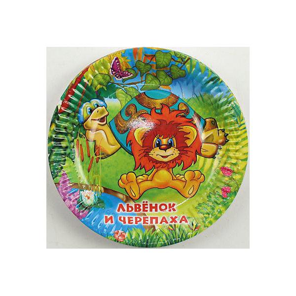 Набор из 6-и тарелок Львёнок и ЧерепахаТарелки<br>Милые иллюстрации с героями замечательного советского мультфильма дополнят любой обеденный и праздничный стол и подарят положительные эмоции. <br><br>Дополнительная информация:<br><br>- Материал: плотный картон.<br>- Комплект: 6 шт.<br>- Диаметр: 18 см.<br>- Размер упаковки: 20х26х2 см.<br>- Вес в упаковке: 70 г.<br><br>Купить набор из 6-ти тарелок Львёнок и Черепаха можно в нашем магазине.<br><br>Ширина мм: 20<br>Глубина мм: 26<br>Высота мм: 2<br>Вес г: 70<br>Возраст от месяцев: 12<br>Возраст до месяцев: 2147483647<br>Пол: Унисекс<br>Возраст: Детский<br>SKU: 4797413